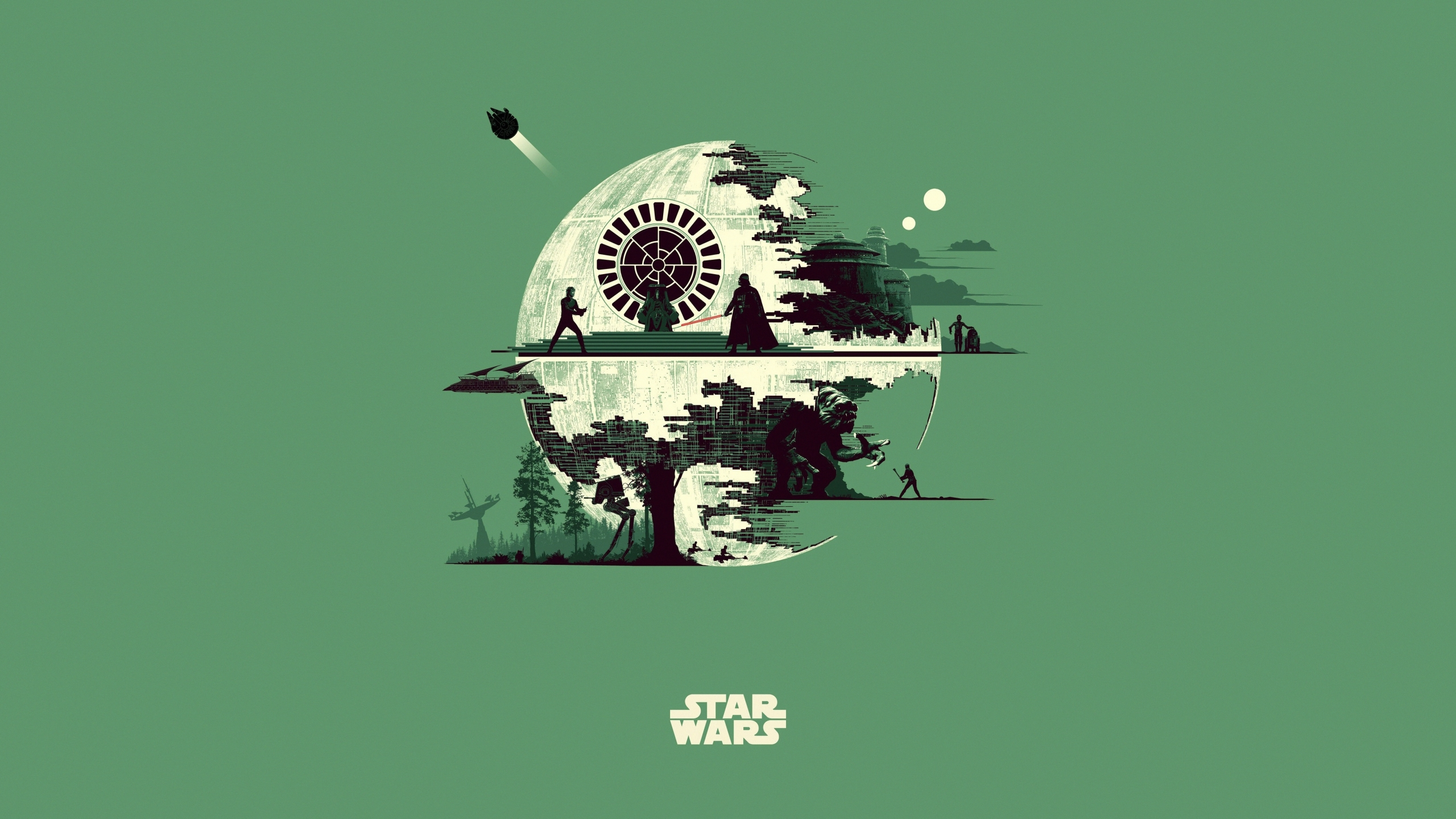 2560x1440 Star Wars Skywalker Saga Minimal 1440p Resolution Wallpaper Hd Movies 4k Wallpapers Images Photos And Background