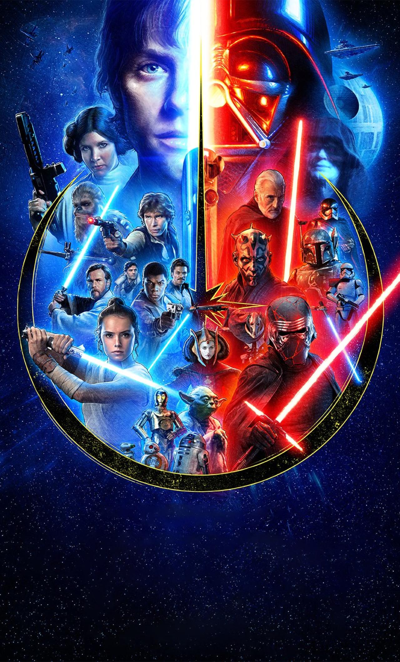 1280x2120 Star Wars Skywalker Saga iPhone 6 plus Wallpaper ...