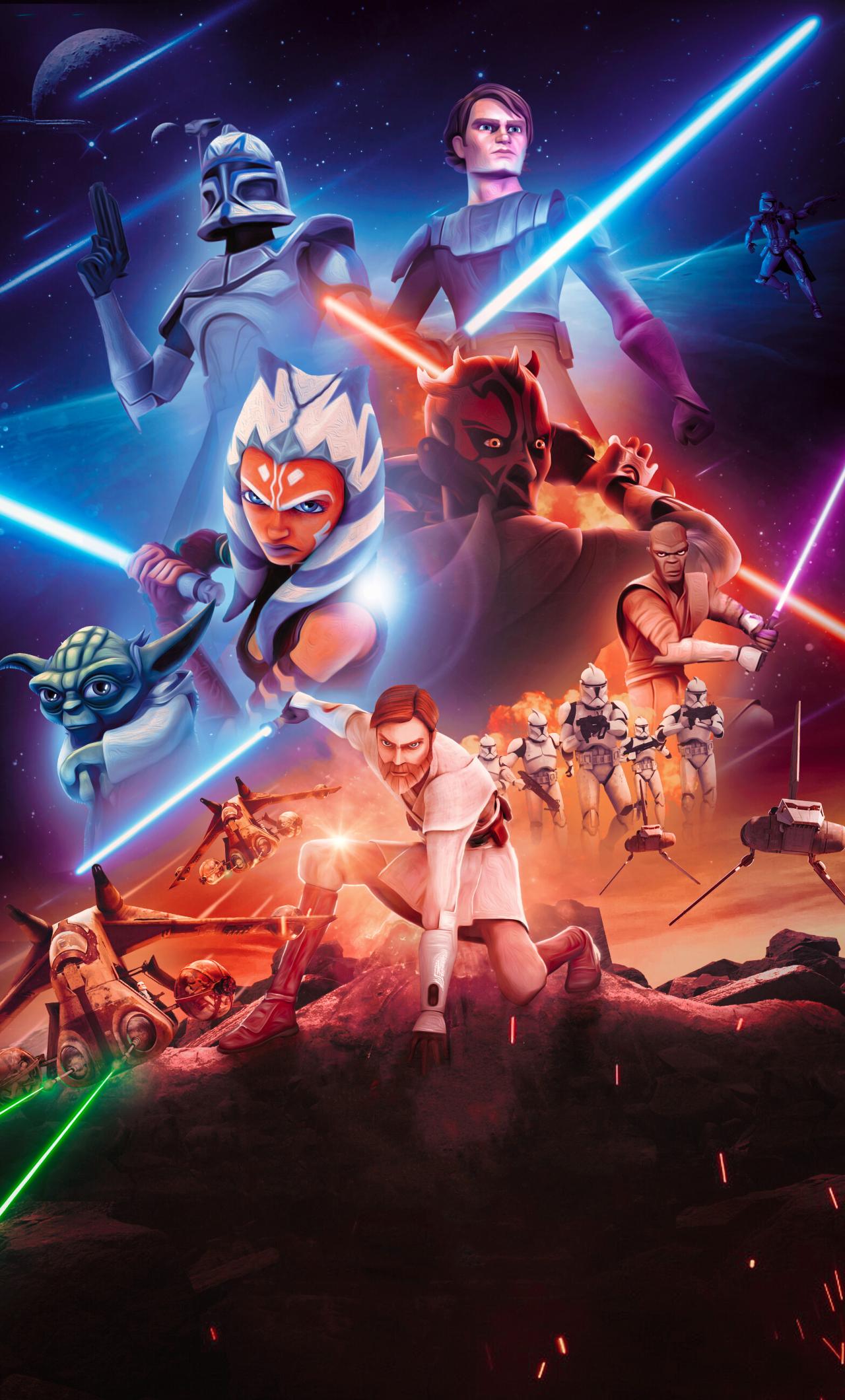 1280x2120 Star Wars The Clone Wars 4K iPhone 6 plus ...