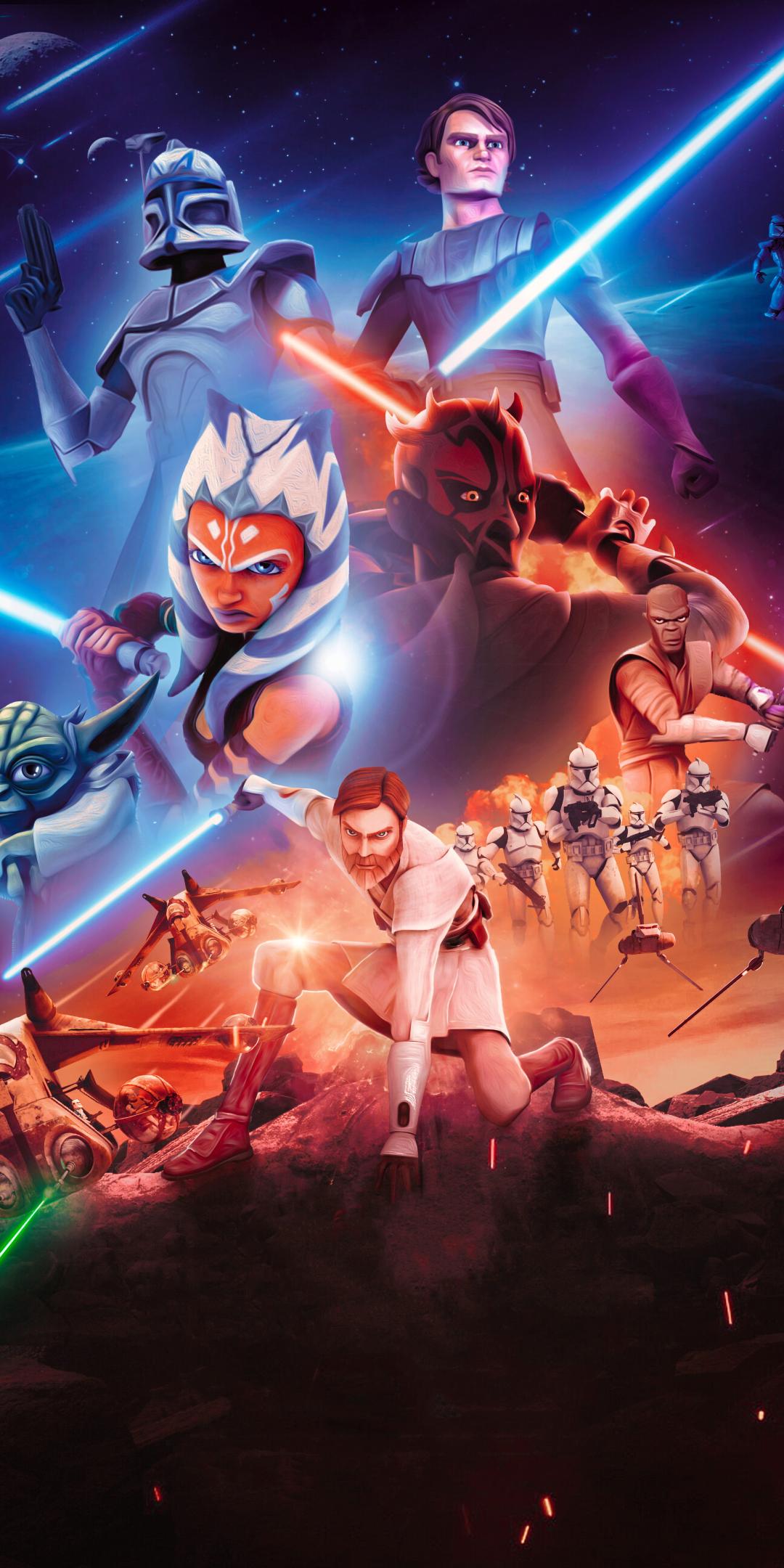 1080x2160 Star Wars The Clone Wars 4K One Plus 5T,Honor 7x ...