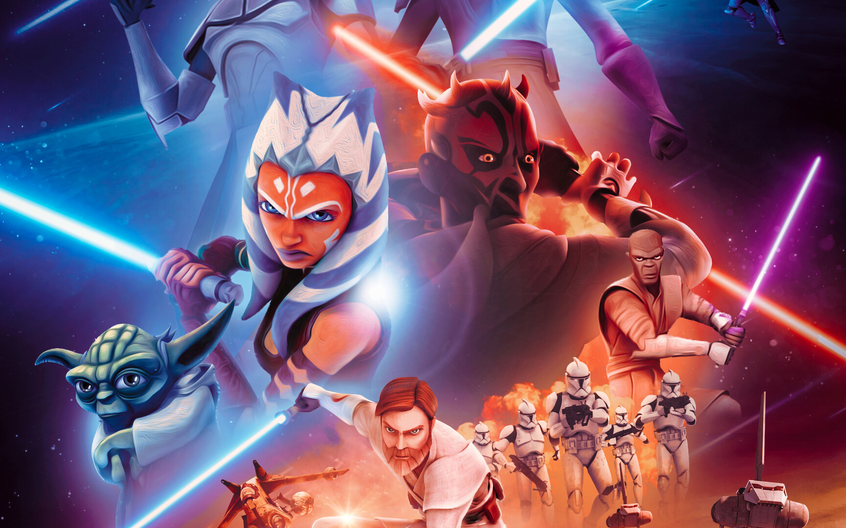 2880x1800 Star Wars The Clone Wars 4k Macbook Pro Retina Wallpaper Hd Tv Series 4k Wallpapers Images Photos And Background Wallpapers Den
