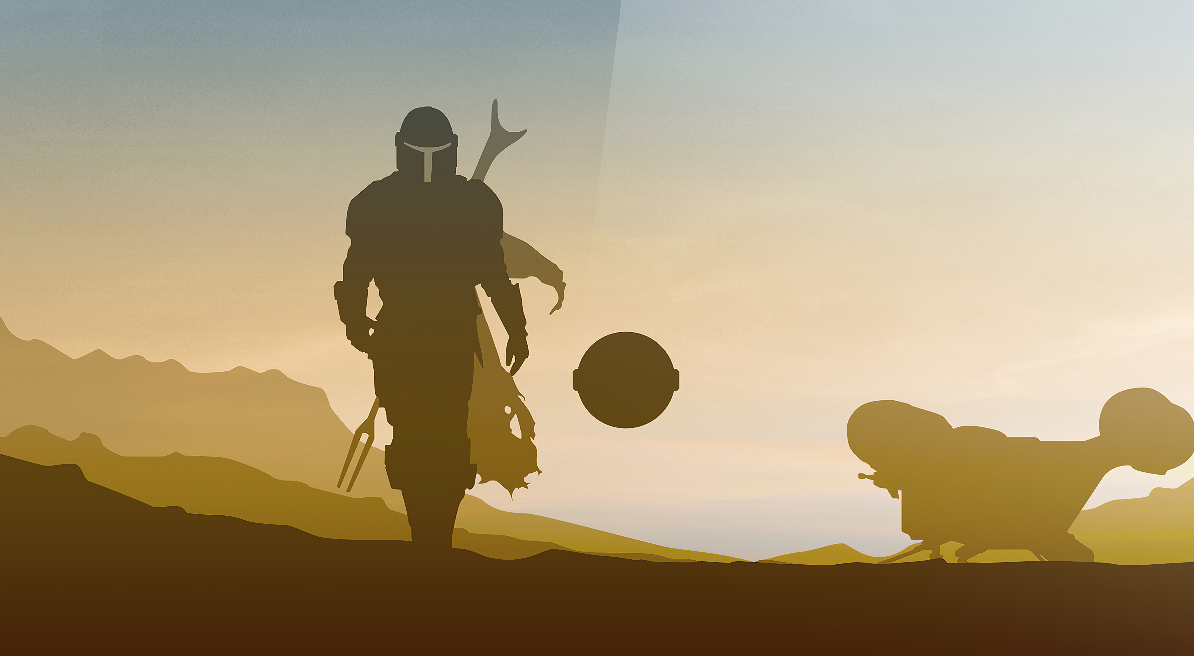Star Wars The Mandalorian 4k Minimalist Wallpaper Hd Minimalist 4k Wallpapers Images Photos And Background