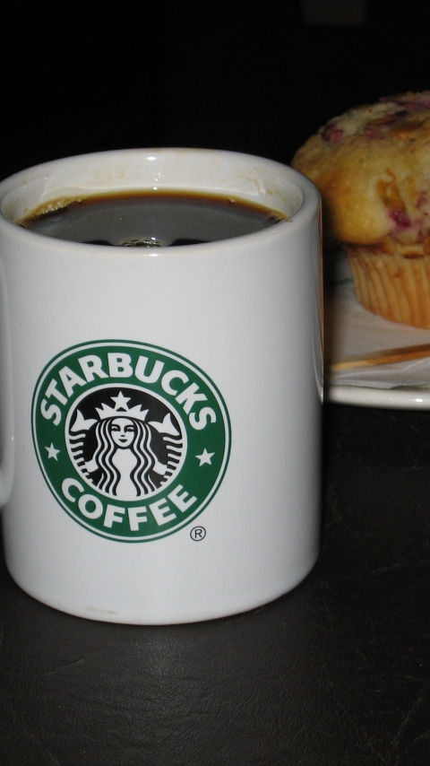 480x854 Starbucks Coffee Logo Android One Mobile Wallpaper