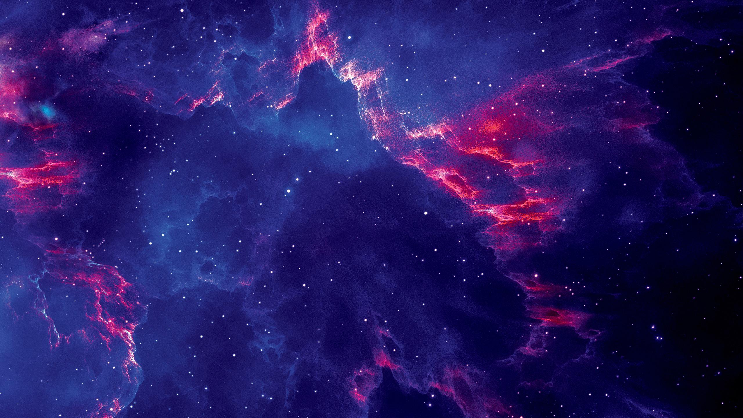 2560x1440 Starry Galaxy 1440P Resolution Background, HD ...