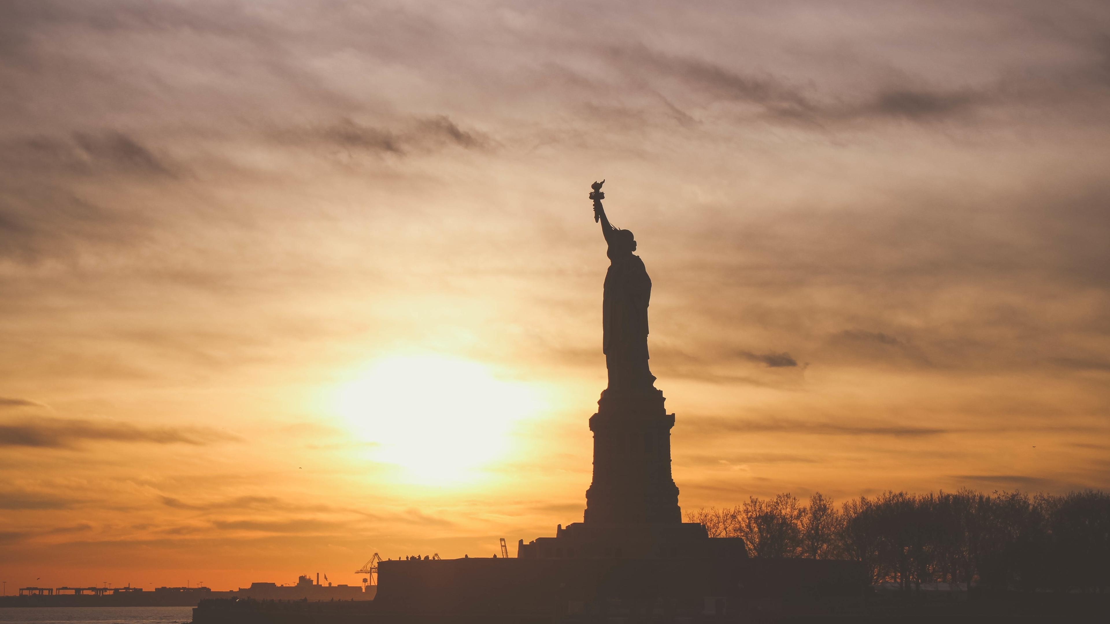 3840x2160 Statue Of Liberty Usa America 4k Wallpaper Hd
