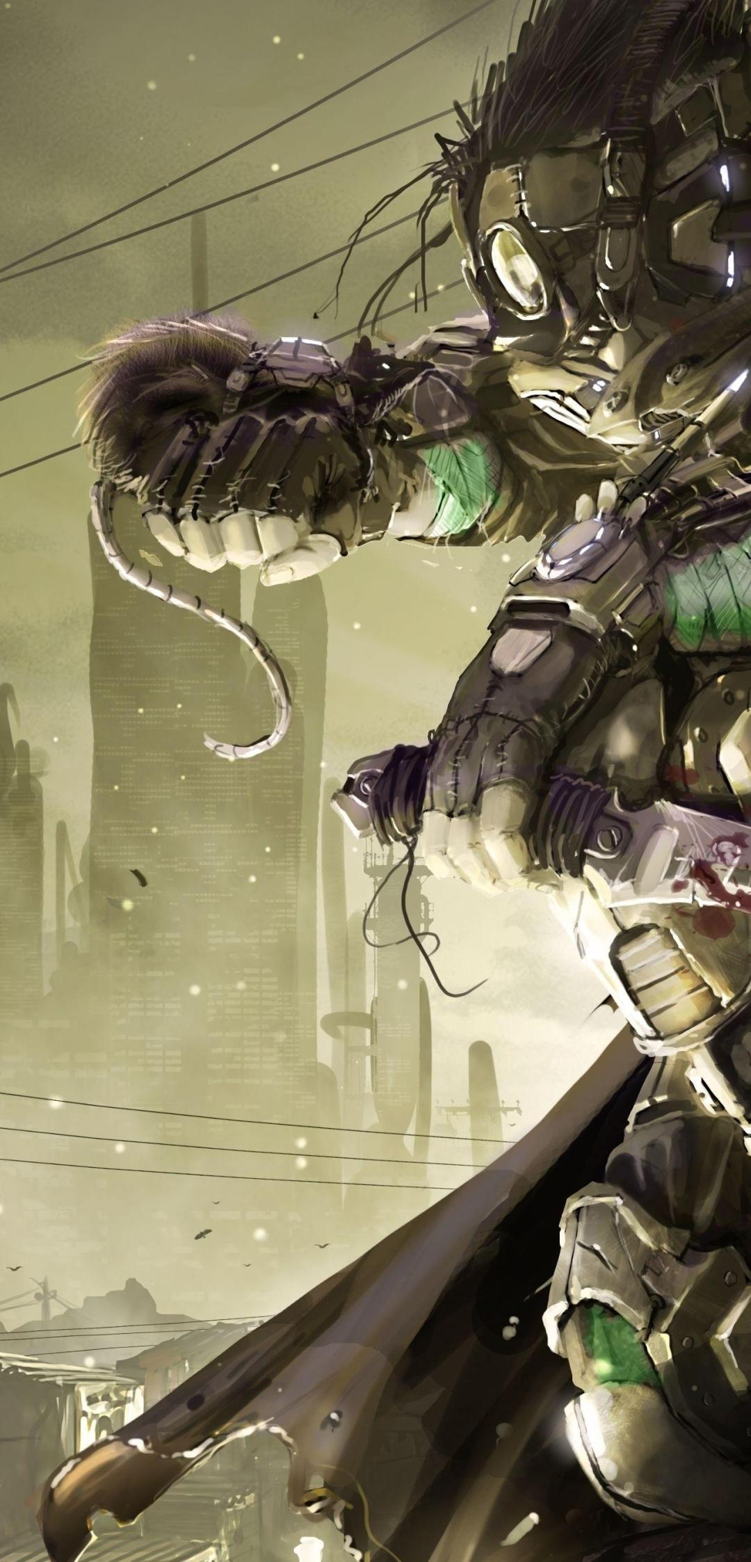 1080x2246 Steampunk Robot Machine 1080x2246 Resolution