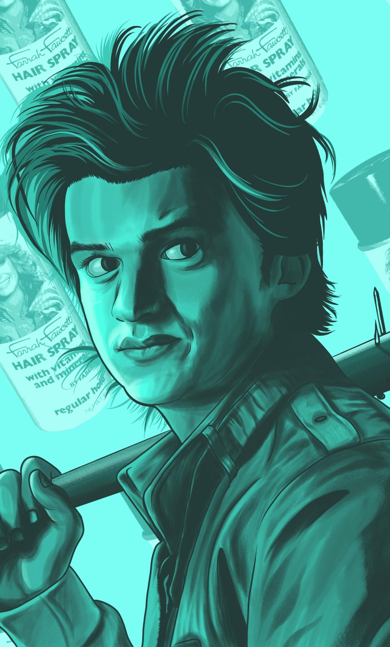 Steve Harrington Stranger Things Art HD 4K Wallpaper