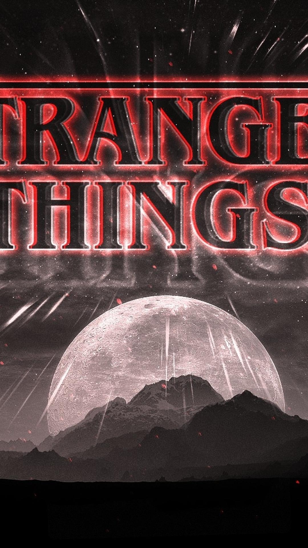 Stranger Things Dark Logo Full Hd Wallpaper