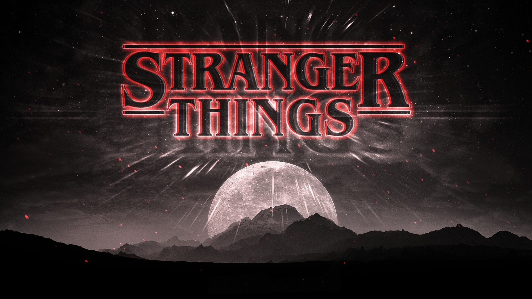 Stranger Things Dark Logo  Full Hd Wallpaper