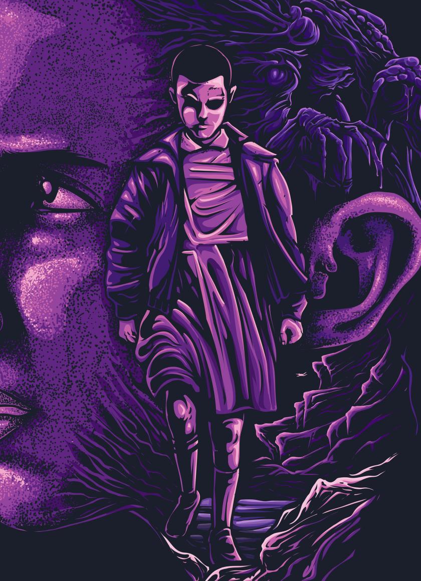 Download Stranger Things Eleven Fan Artwork Wallpaper