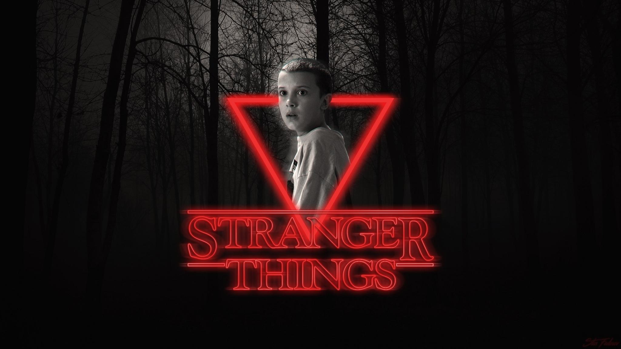 Stranger things eleven neon poster full hd wallpaper - Stranger things desktop wallpaper ...