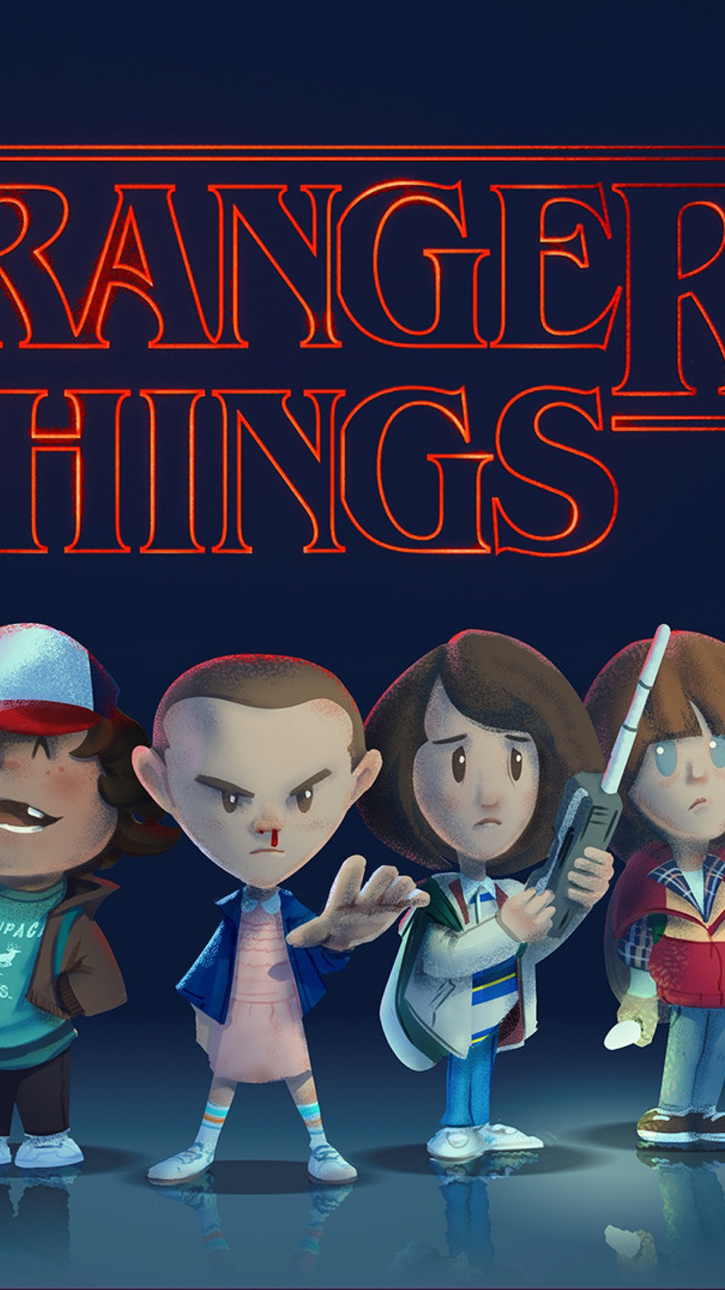 Download stranger things fan art 1440x2560 resolution - Fan wallpaper download ...