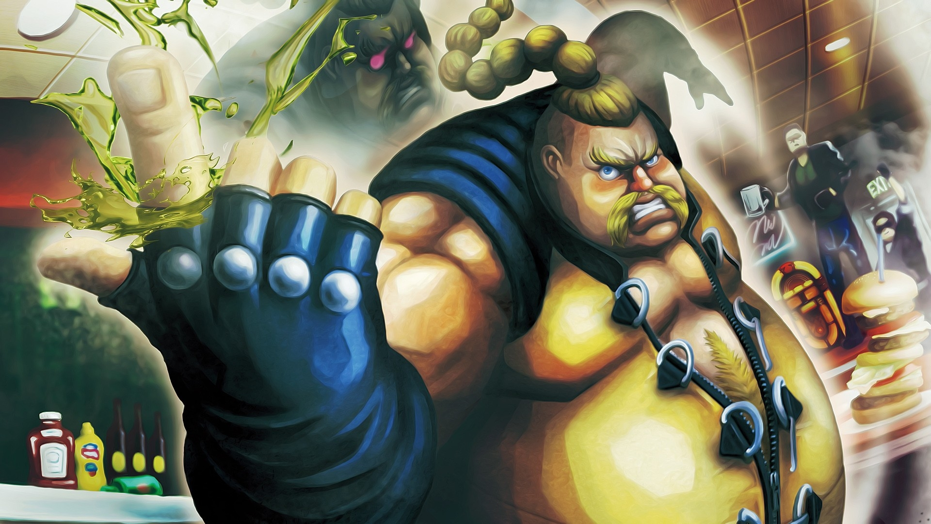 840x1160 Street Fighter X Tekken Rufus Fat 840x1160 Resolution Wallpaper Hd Games 4k Wallpapers Images Photos And Background
