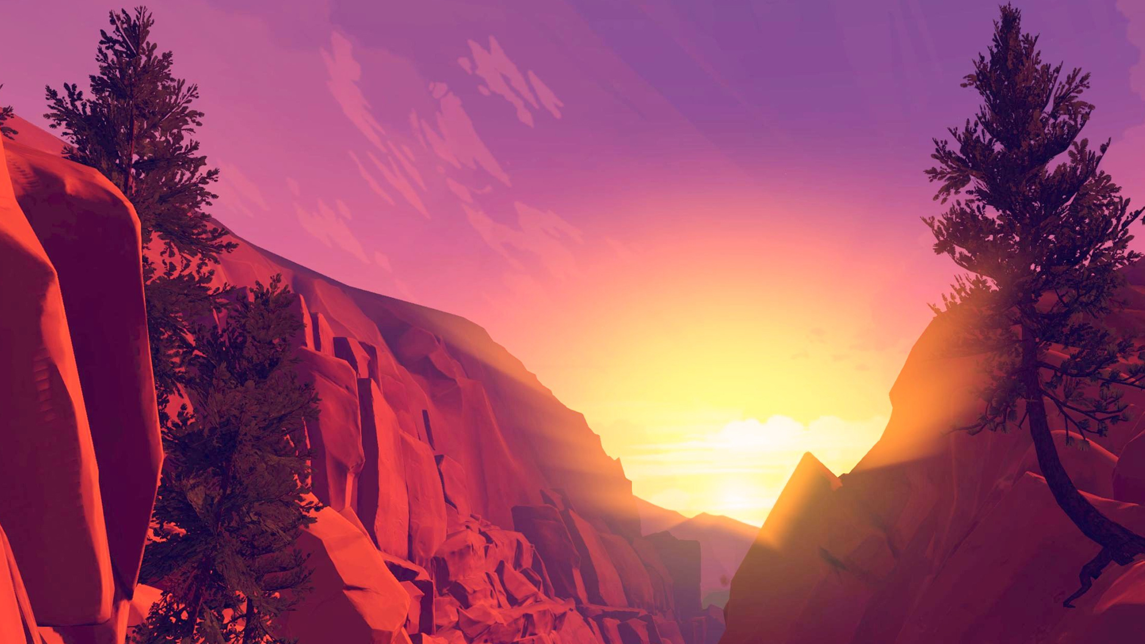 3840x2160 Sunset Fire Watch Background 4k Wallpaper Hd
