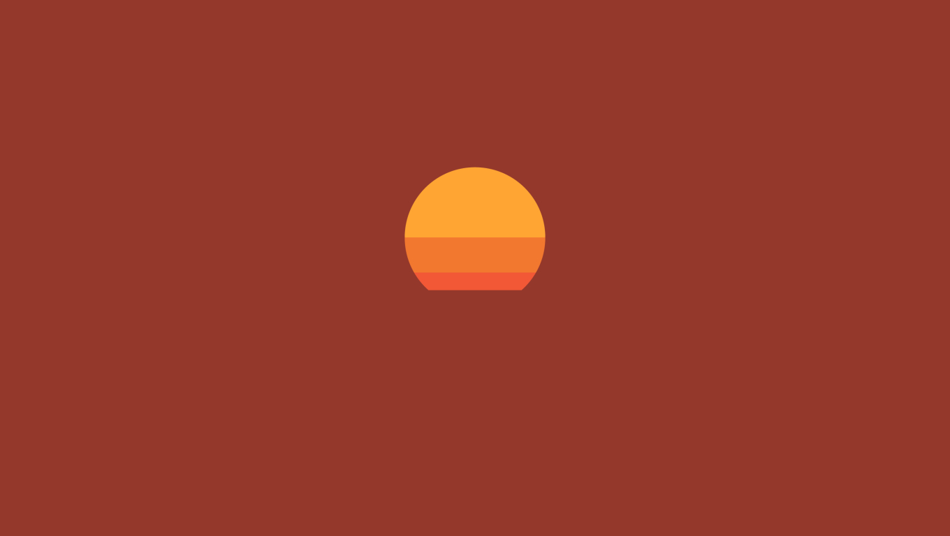 1360x768 Sunset Minimalist Desktop Laptop HD Wallpaper, HD ...