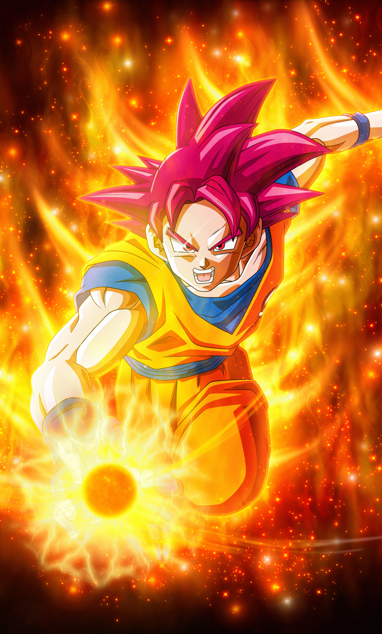 Super Saiyan God Goku Dragon Ball, HD 4K Wallpaper