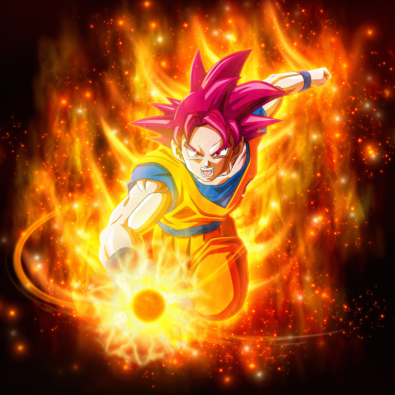 Dragon Ball Super Wallpaper Android Hd: Download Super Saiyan God Goku Dragon Ball 1080x1920