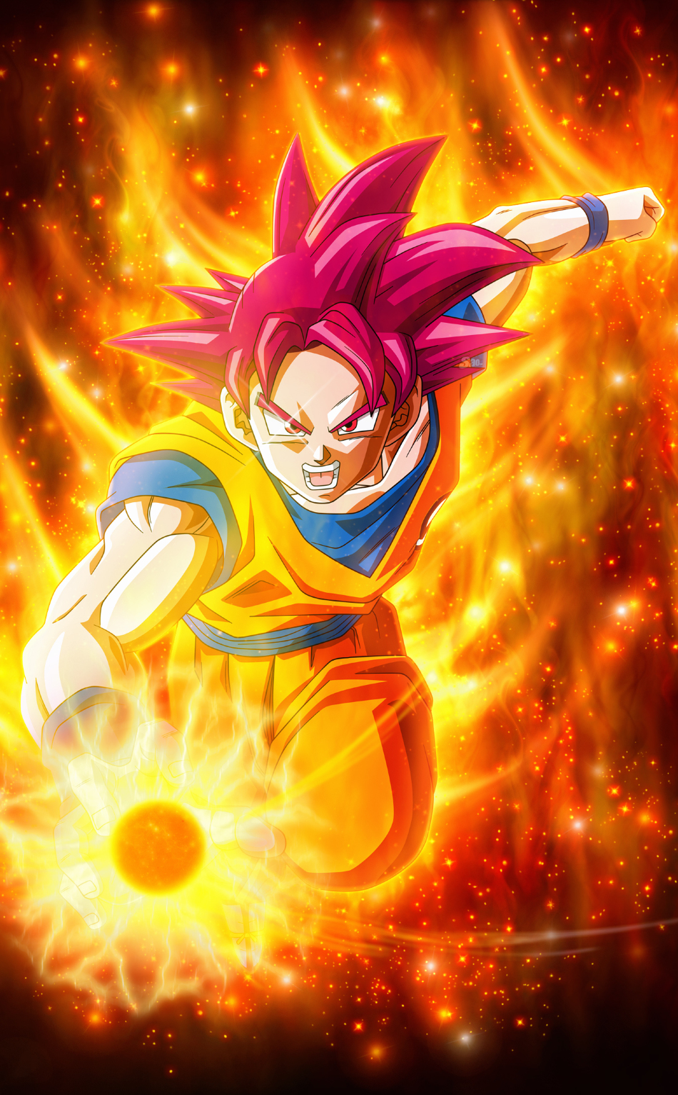 Super saiyan god goku dragon ball hd 4k wallpaper - 4k wallpaper of god ...