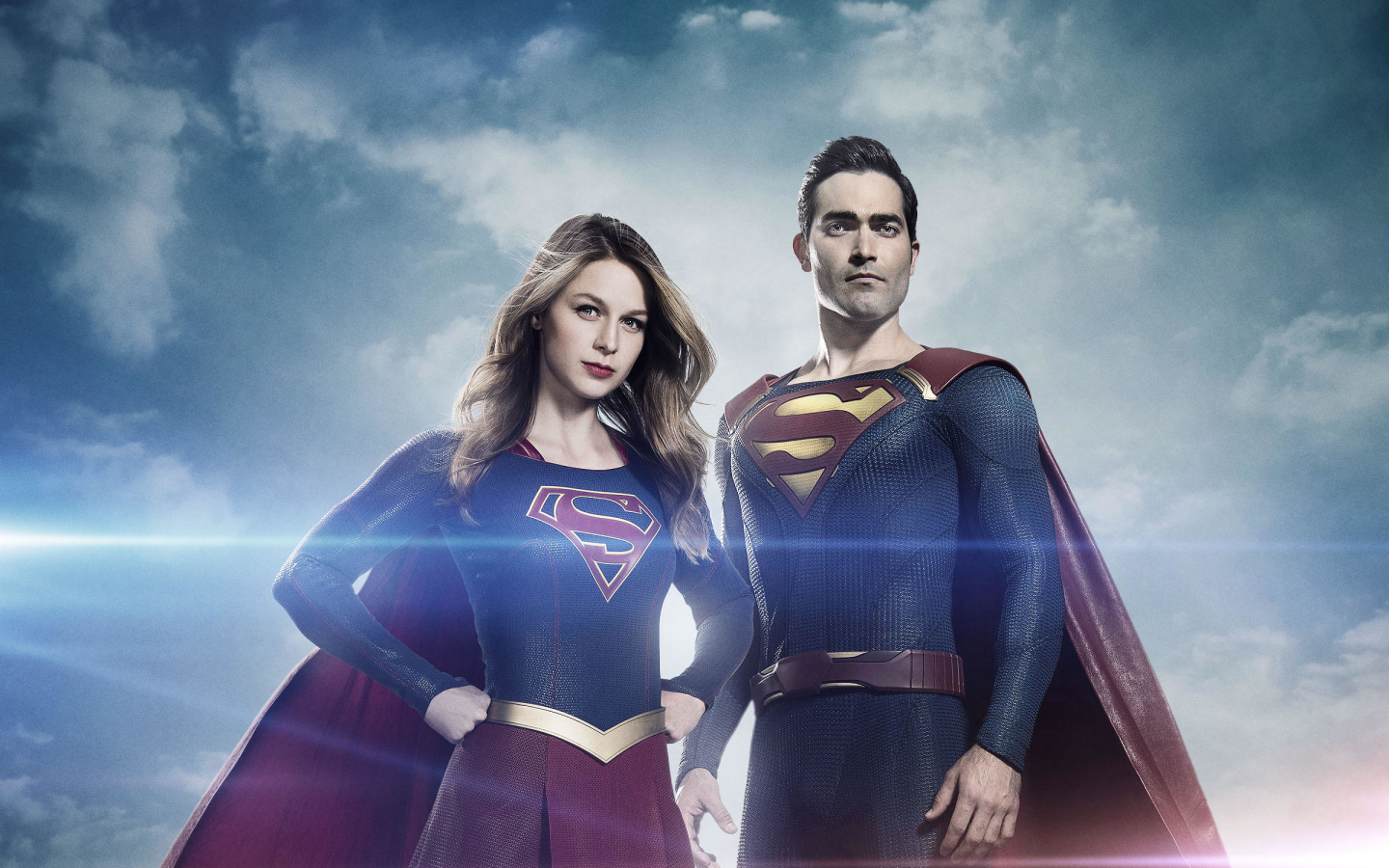 Supergirl and Superman Arrowverse Wallpaper in 1440x900 Resolution