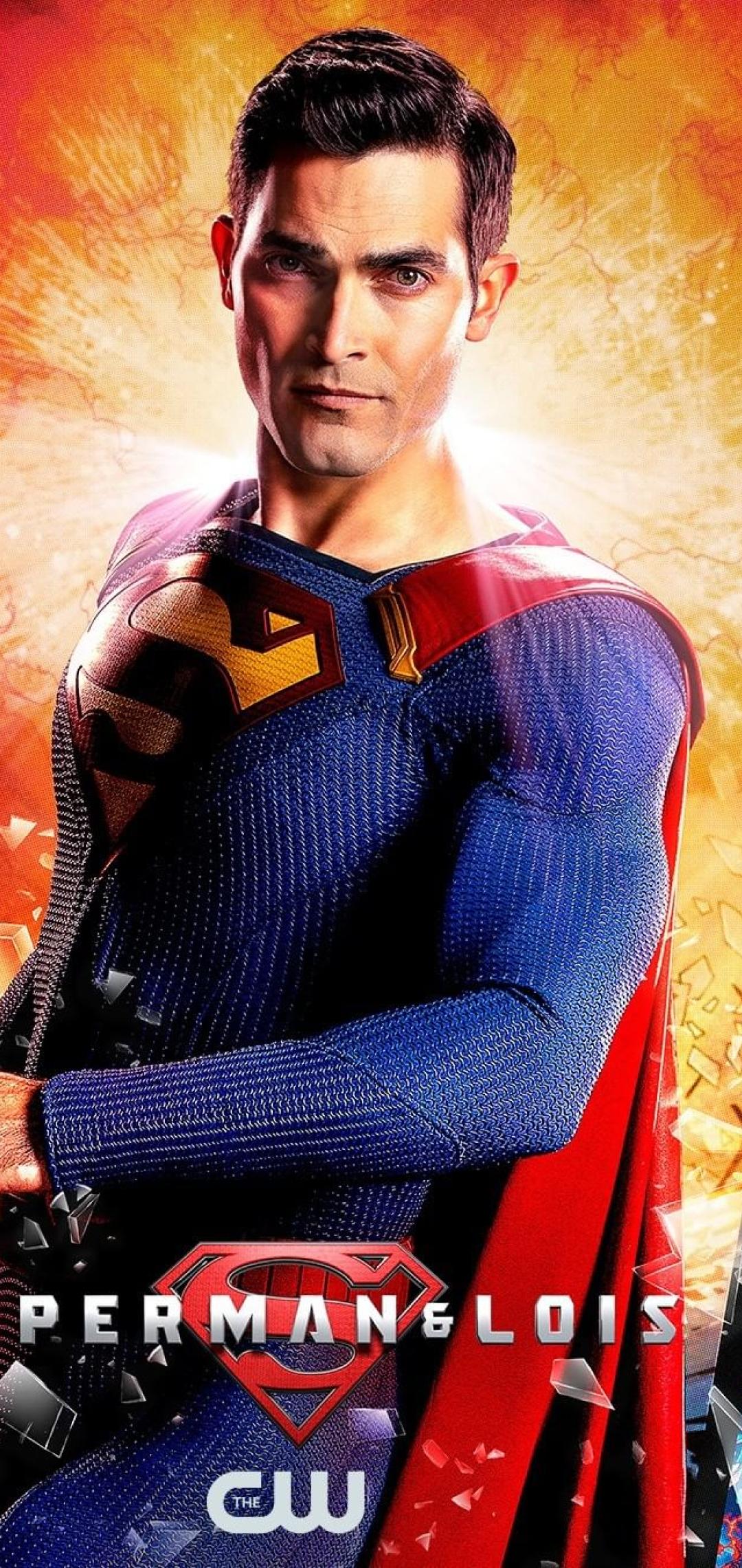 Superman Arrowverse Wallpaper in 1080x2280 Resolution