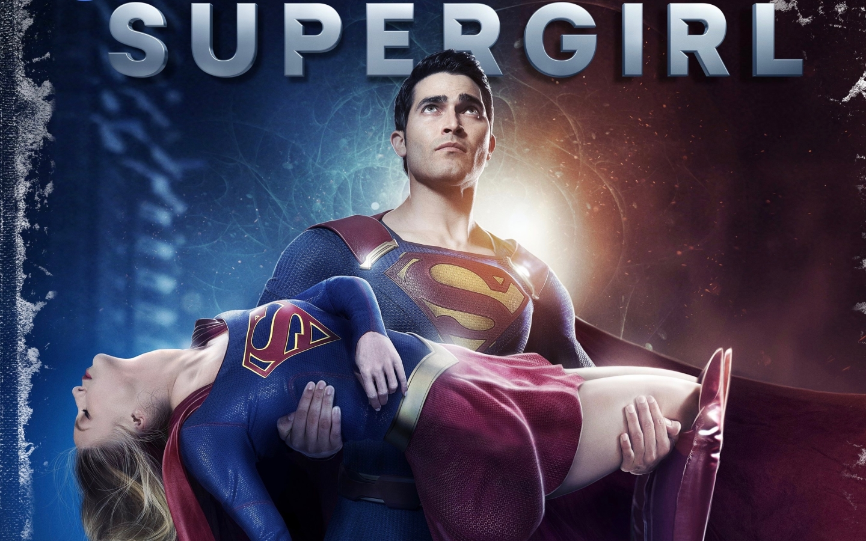 Superman saving Supergirl Wallpaper in 1440x900 Resolution