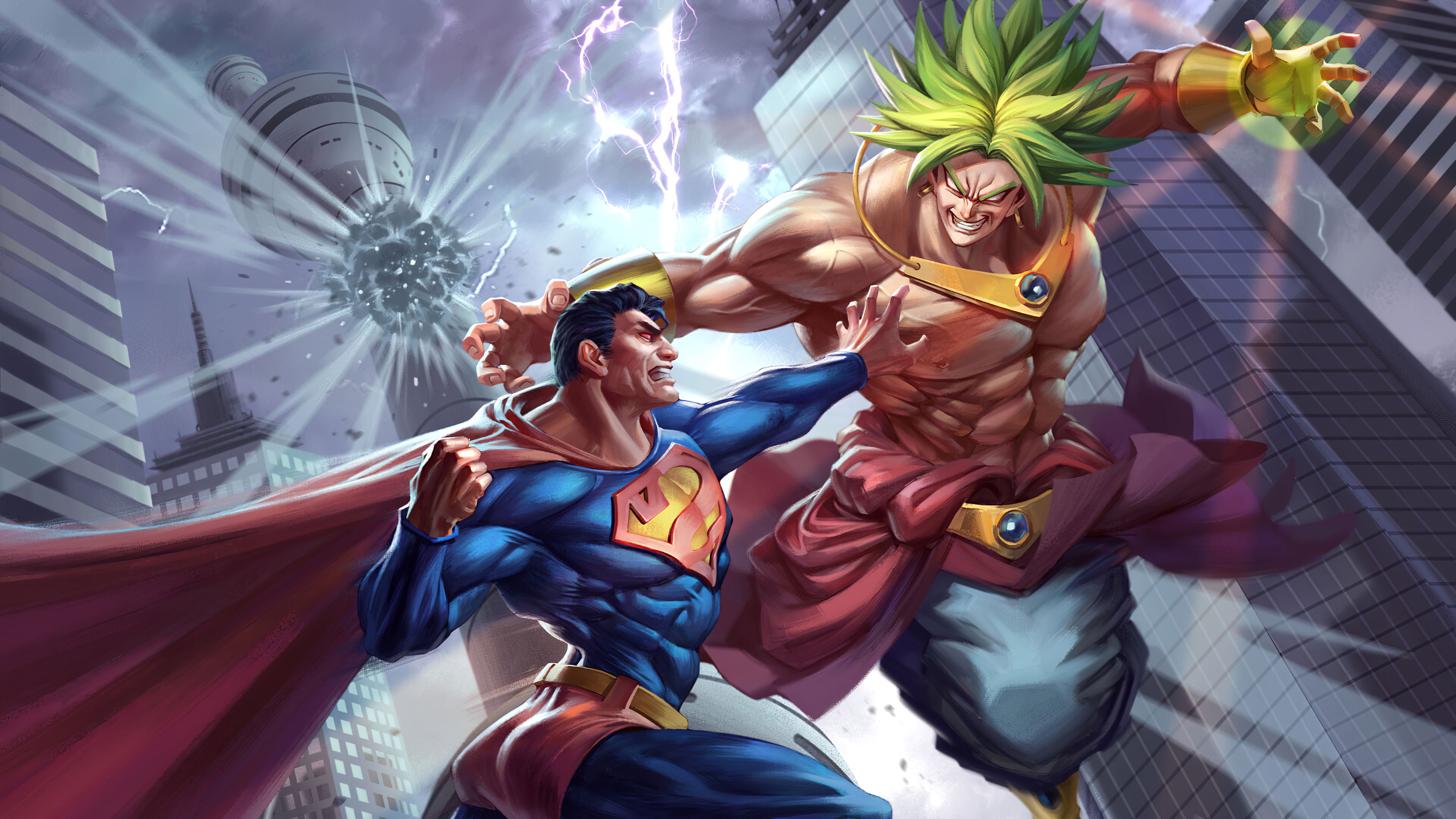 Superman Vs Broly Wallpaper Hd Superheroes 4k Wallpapers Images Photos And Background