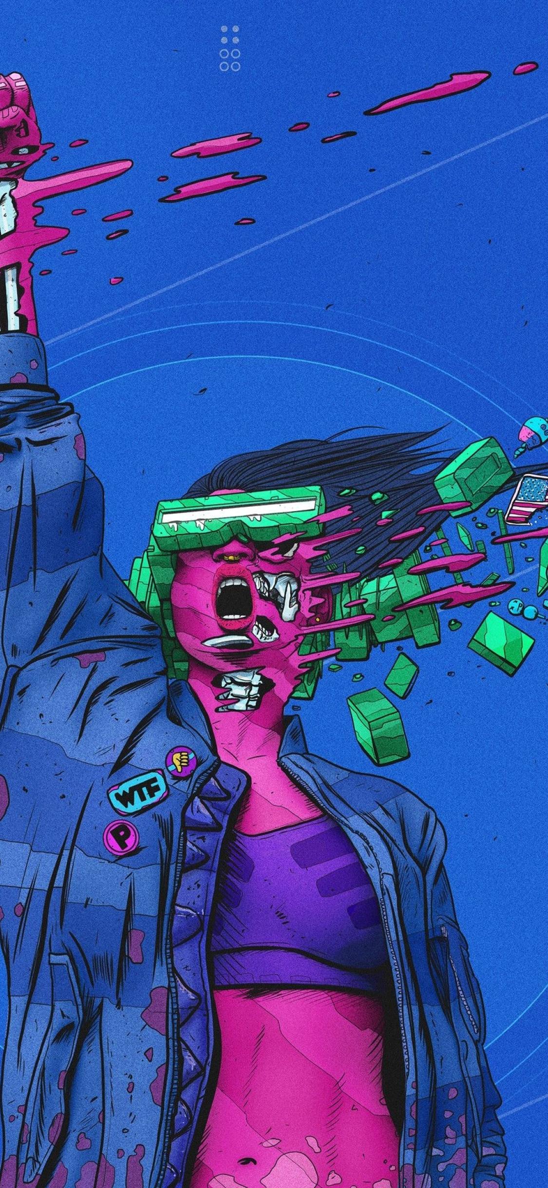 1125x2436 Surreal Cyberpunk Artwork Iphone Xs Iphone 10