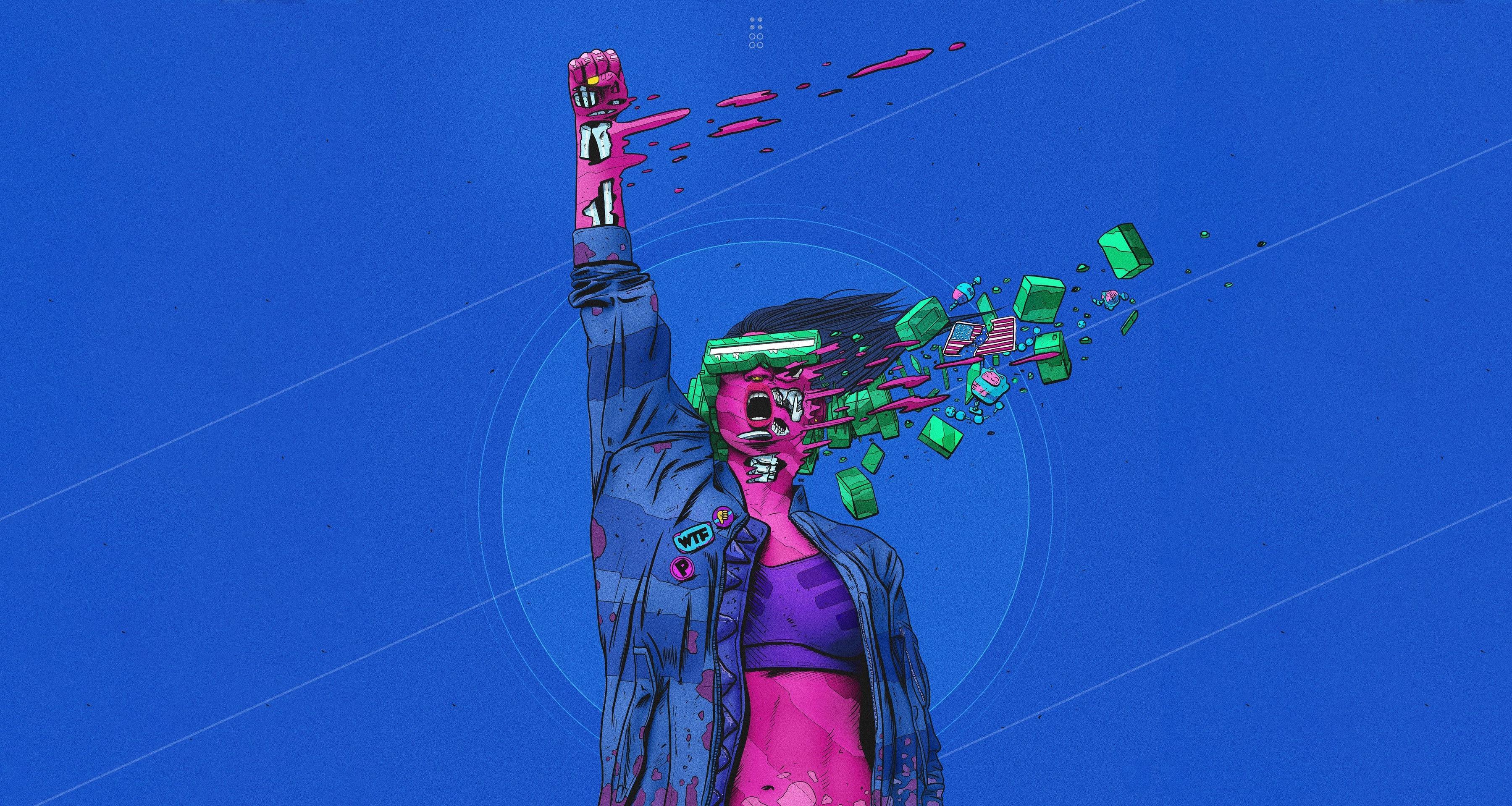 Surreal Cyberpunk Artwork Wallpaper, HD Artist 4K ...