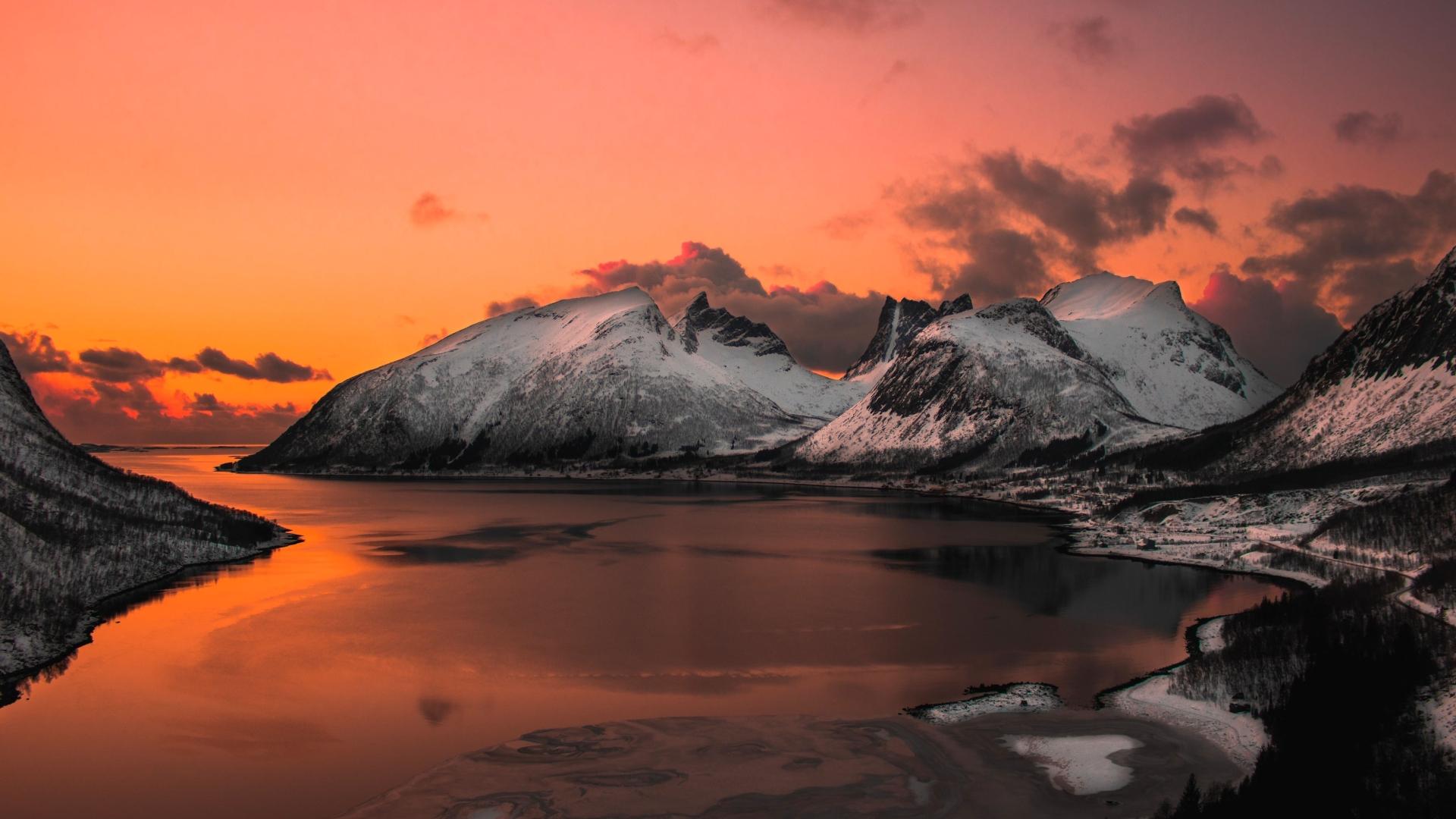1920x1080 Surreal Mountain Landscape Lake 4K 1080P Laptop ...