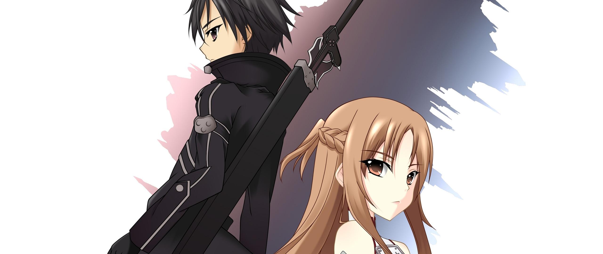2560x1080 Sword Art Online Asuna Yuuki Kazuto Kirigaya 2560x1080