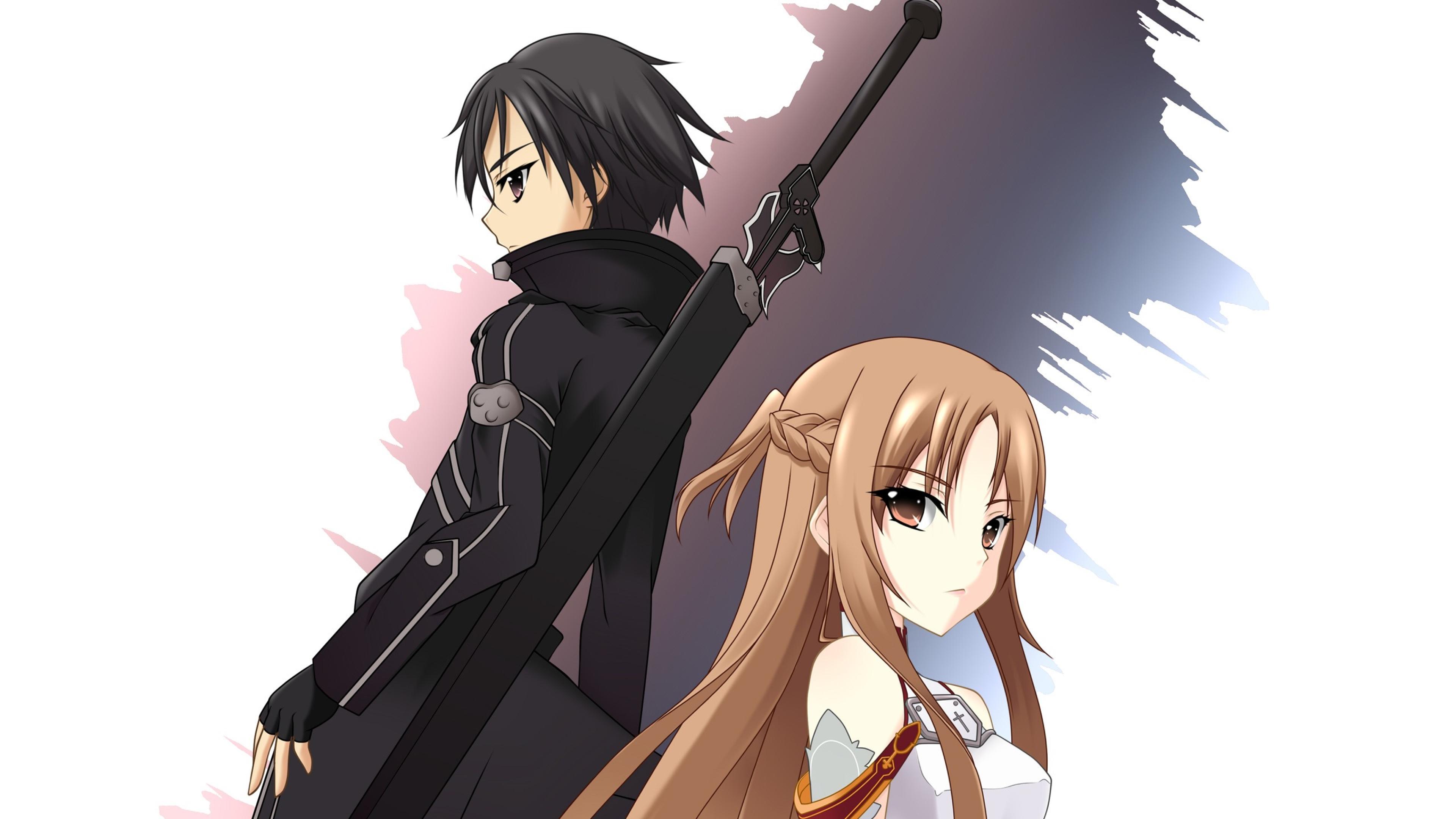 3840x2160 Sword Art Online Asuna Yuuki Kazuto Kirigaya 4k
