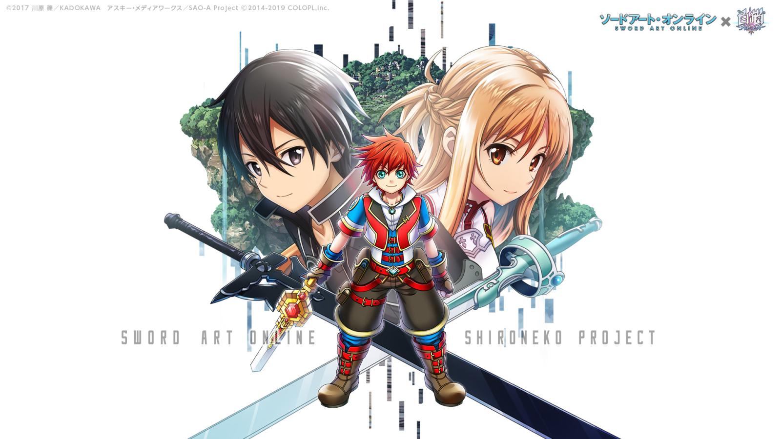 1600x900 Sword Art Online Crossover Shironeko Project