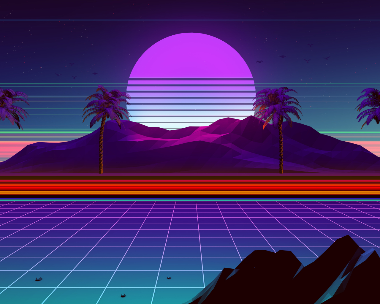 1280x1024 Synthwave And Retrowave 1280x1024 Resolution ...