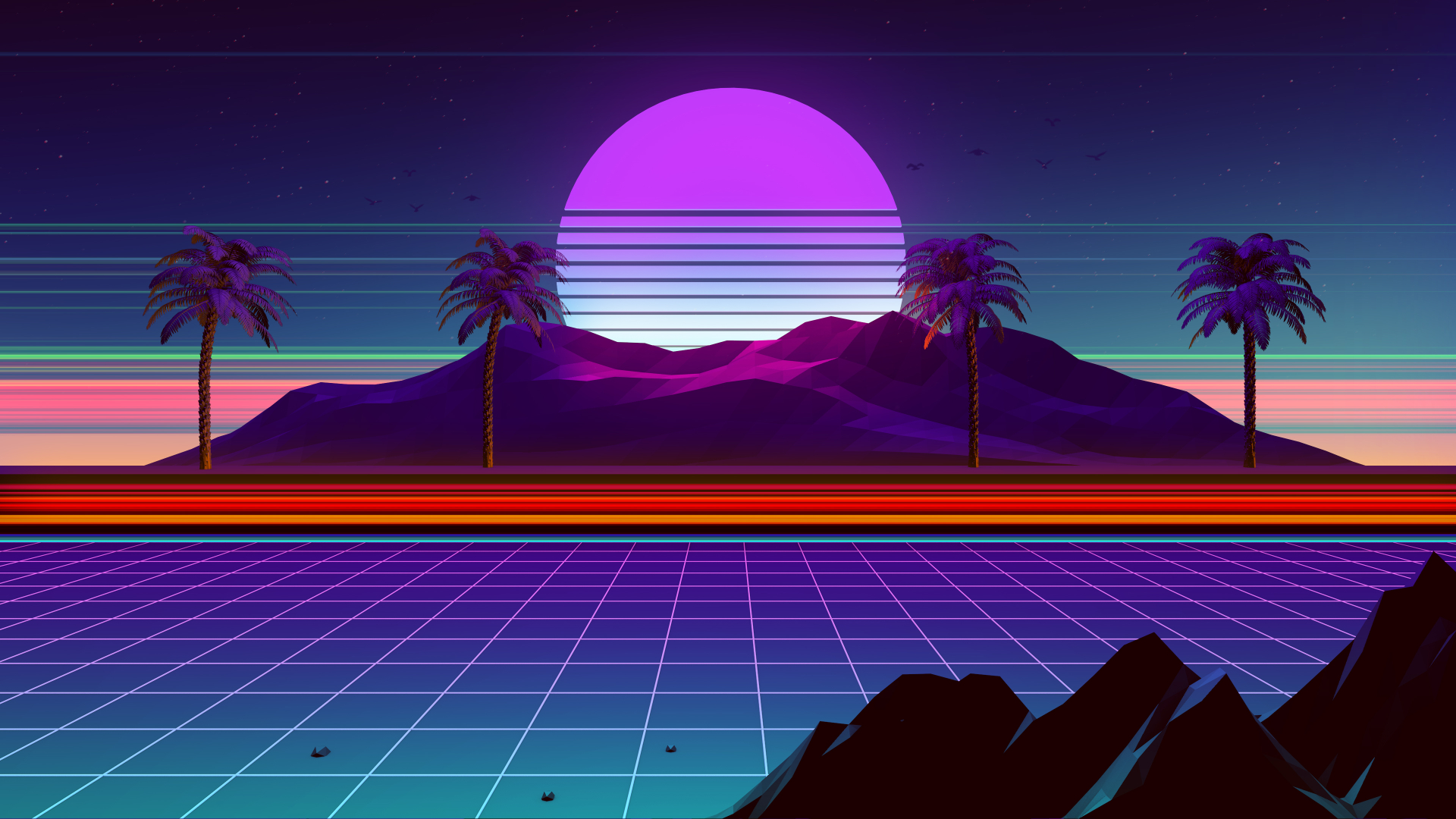 1920x1080 Synthwave And Retrowave 1080P Laptop Full HD ...