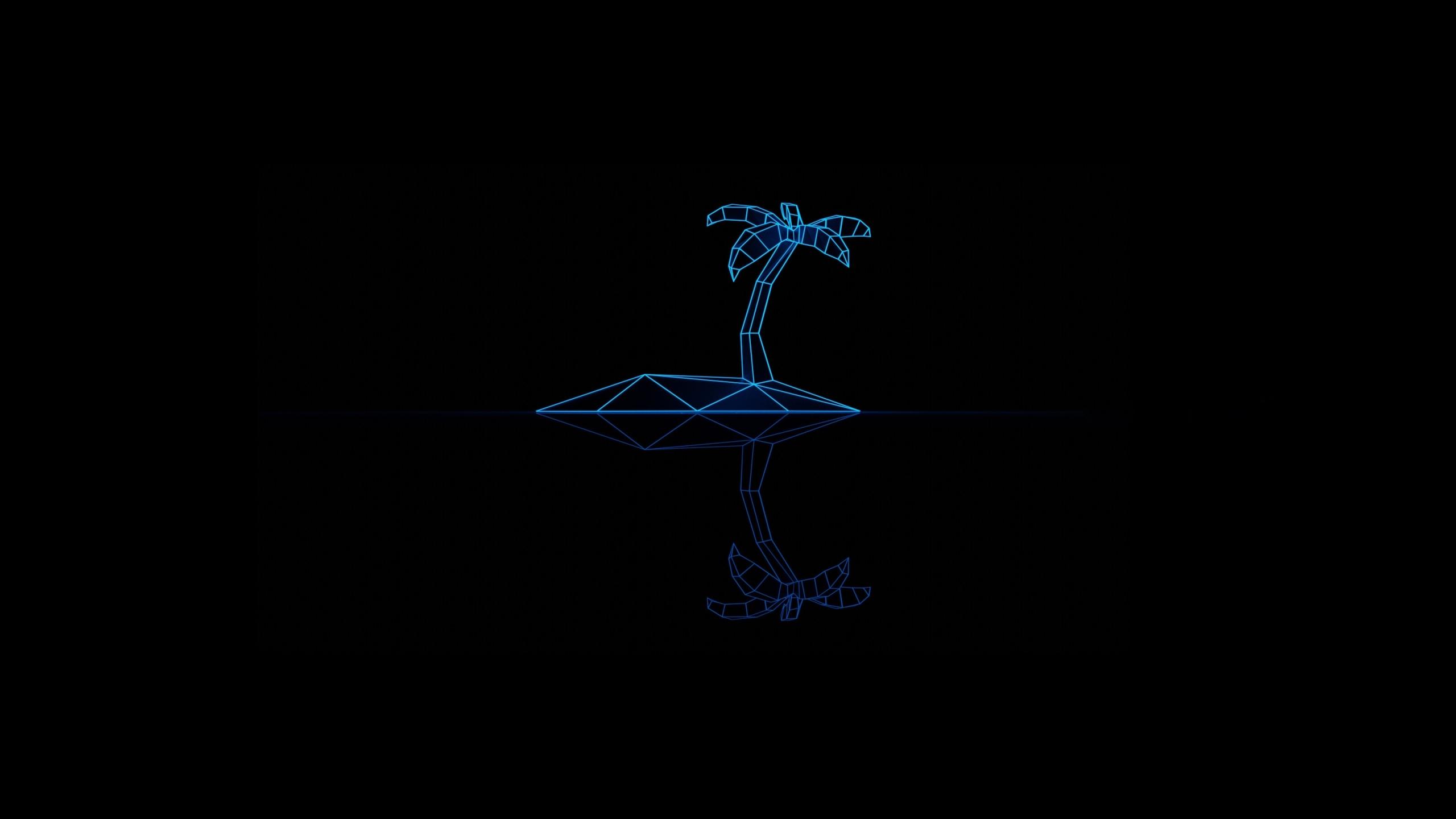 2560x1440 Synthwave Dark Minimal Art 1440P Resolution ...