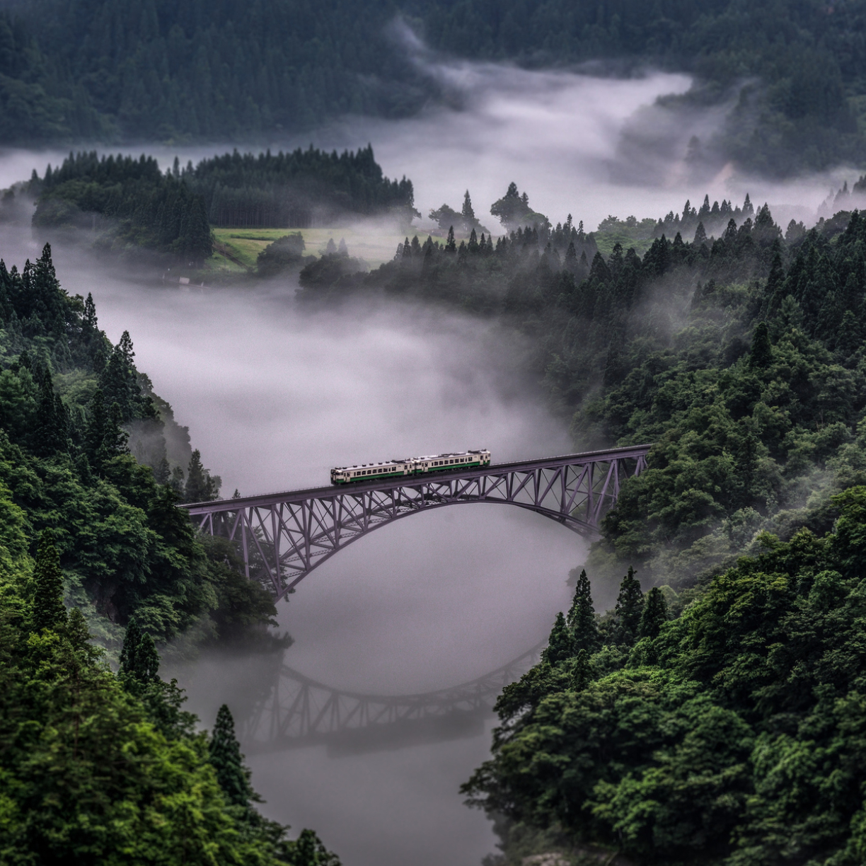 Tadami Line In Japan, Full HD Wallpaper