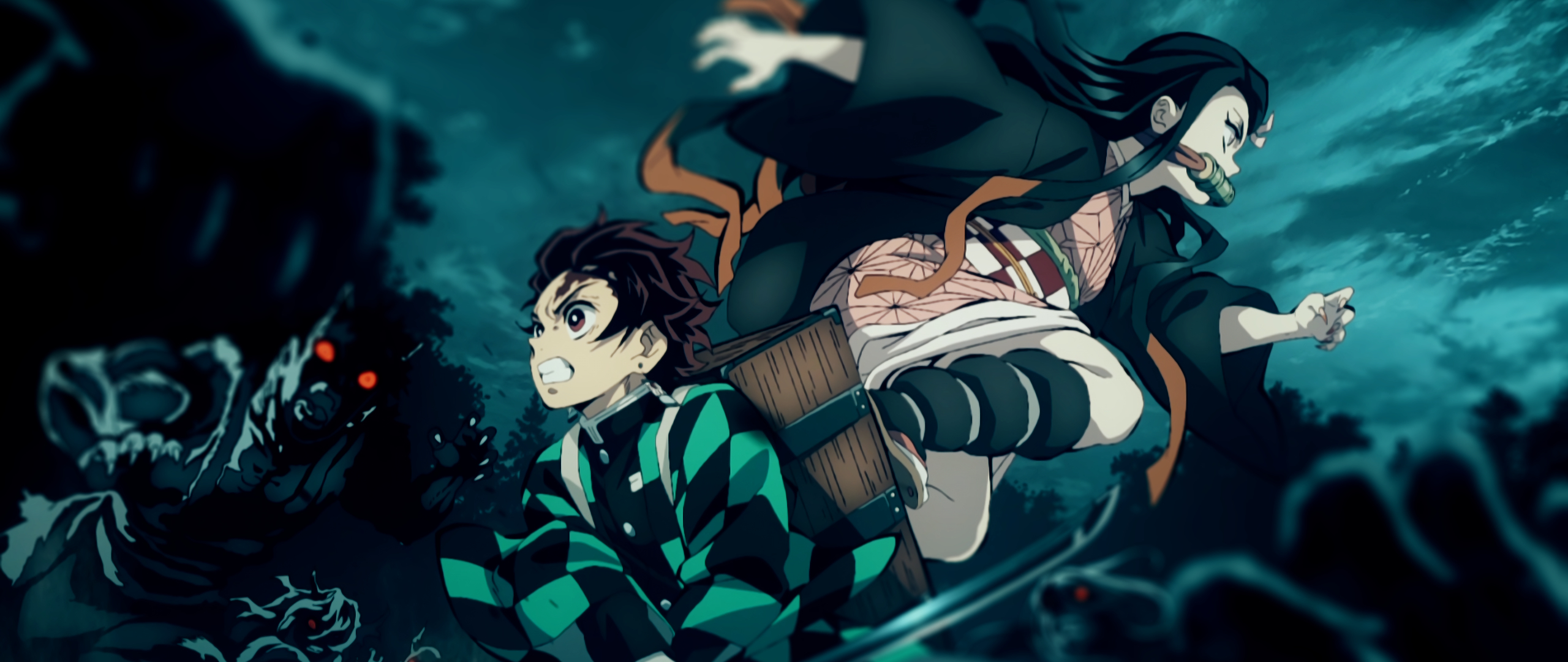 2560x1080 Tanjirou and Nezuko 2560x1080 Resolution Wallpaper, HD Anime 4K Wallpapers, Images ...