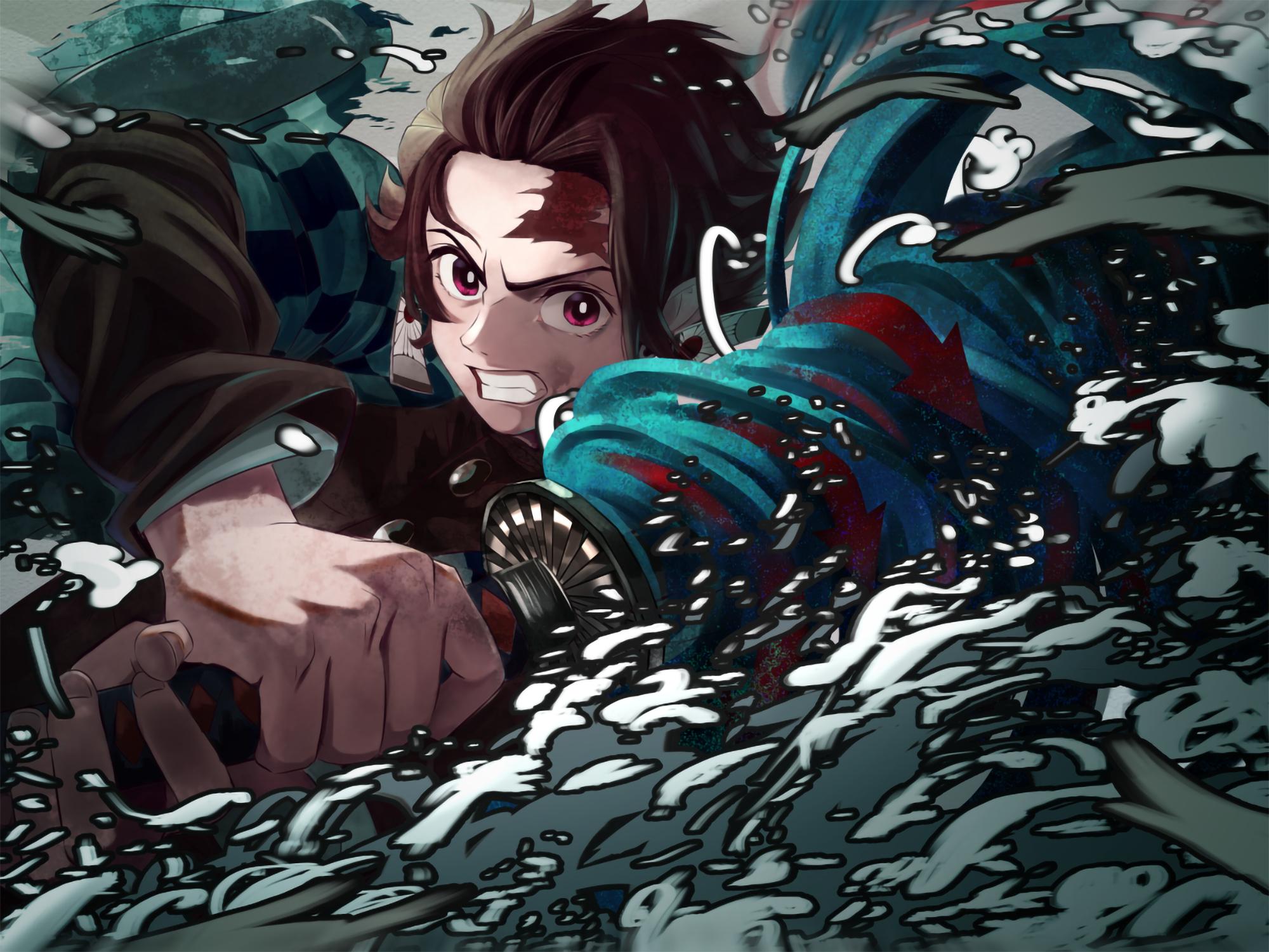 Tanjirou Kamado From Demon Slayer Wallpaper, HD Anime 4K ...