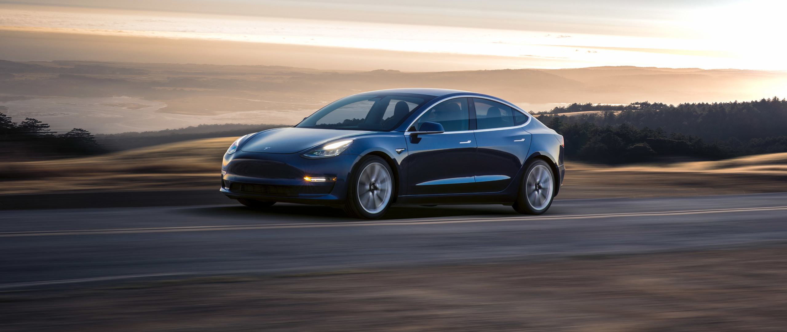 2560x1080 Tesla Model 3 2017 2560x1080 Resolution Wallpaper