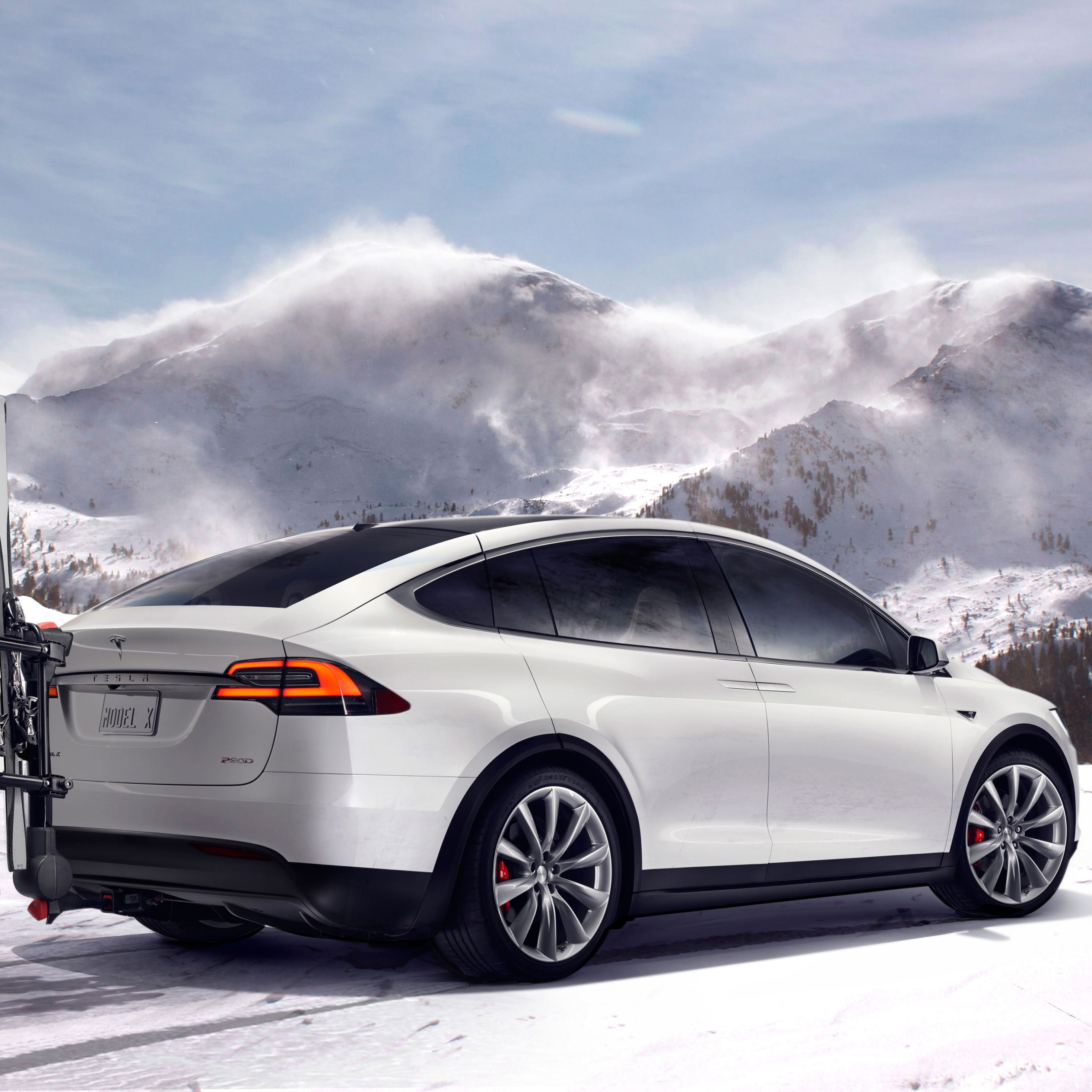 Tesla Model 3 Wallpaper Iphone: Tesla Model X In Mountains, HD 4K Wallpaper