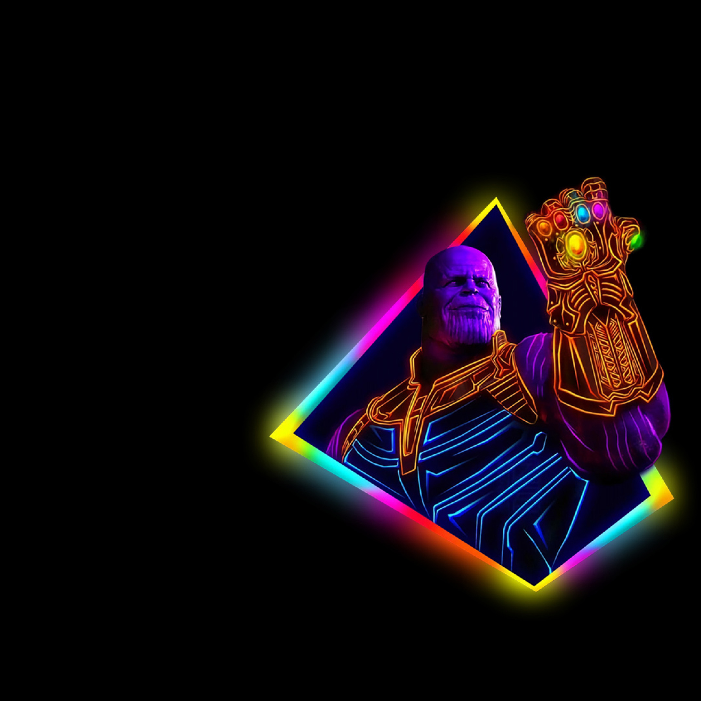 2248x2248 Thanos Avengers Infinity War 80s Outrun Art 2248x2248 Resolution Wallpaper Hd Movies 4k Wallpapers Images Photos And Background