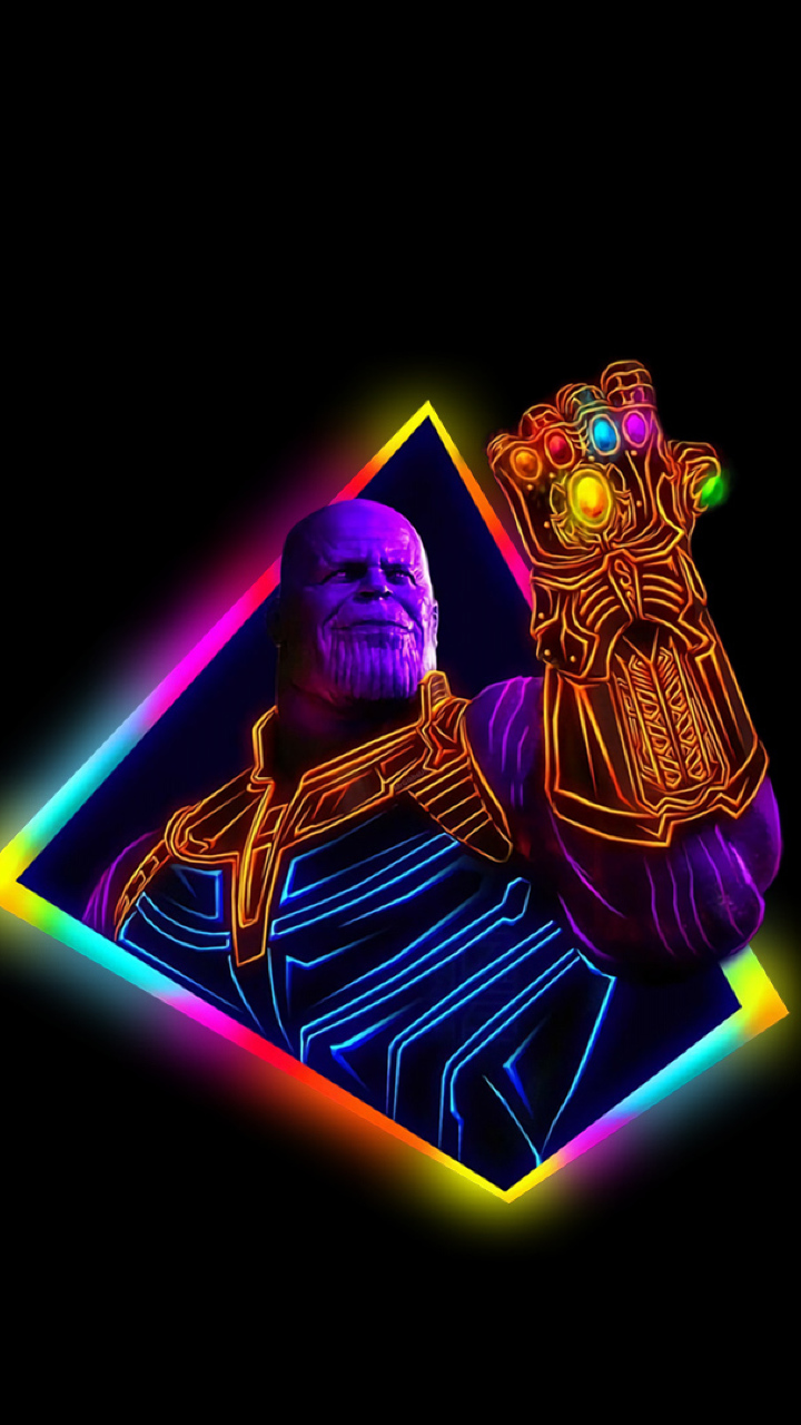 Thanos Avengers Infinity War 80s Outrun Art, Full HD Wallpaper