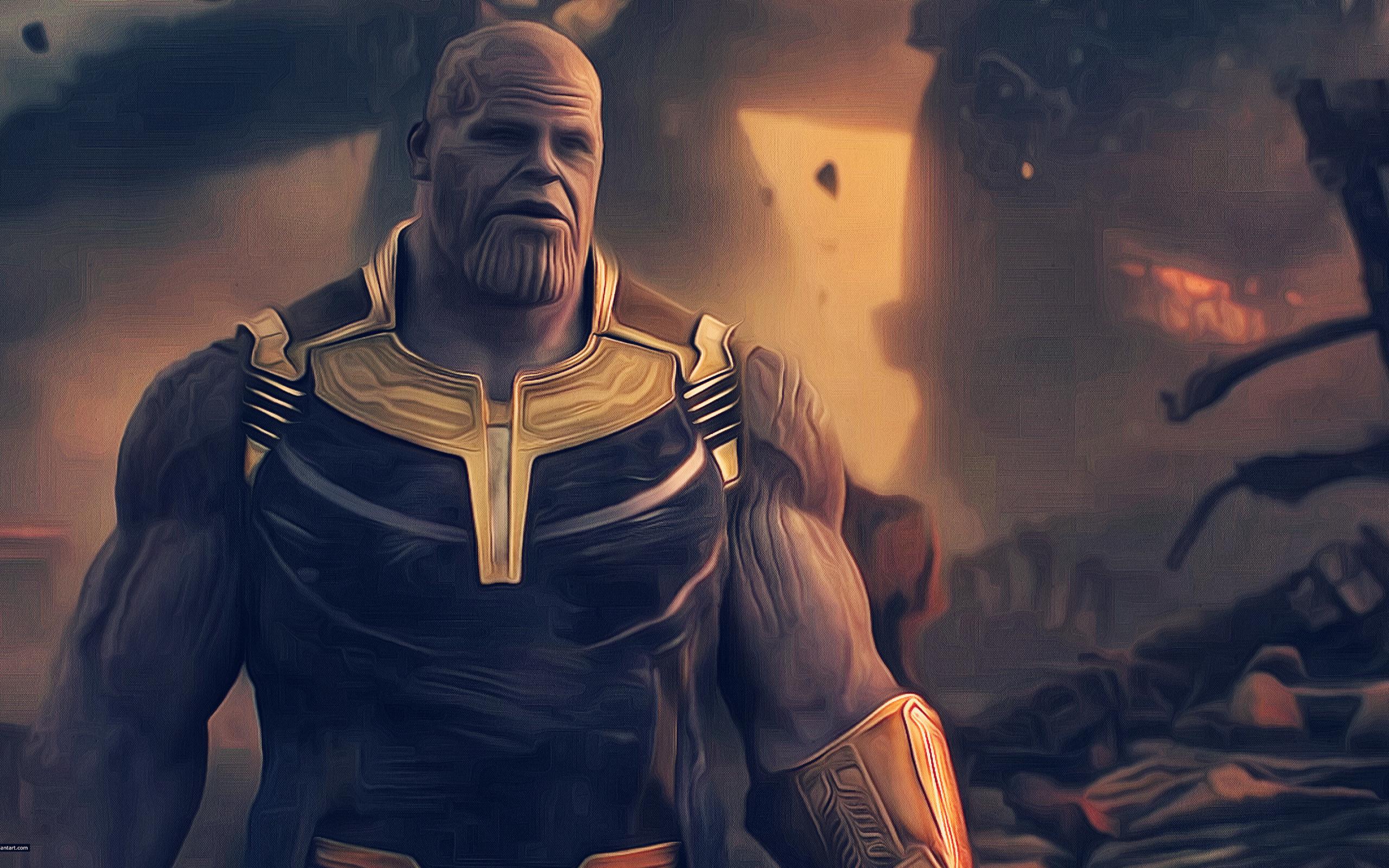Thanos Avengers Infinity War Artwork, HD 4K Wallpaper