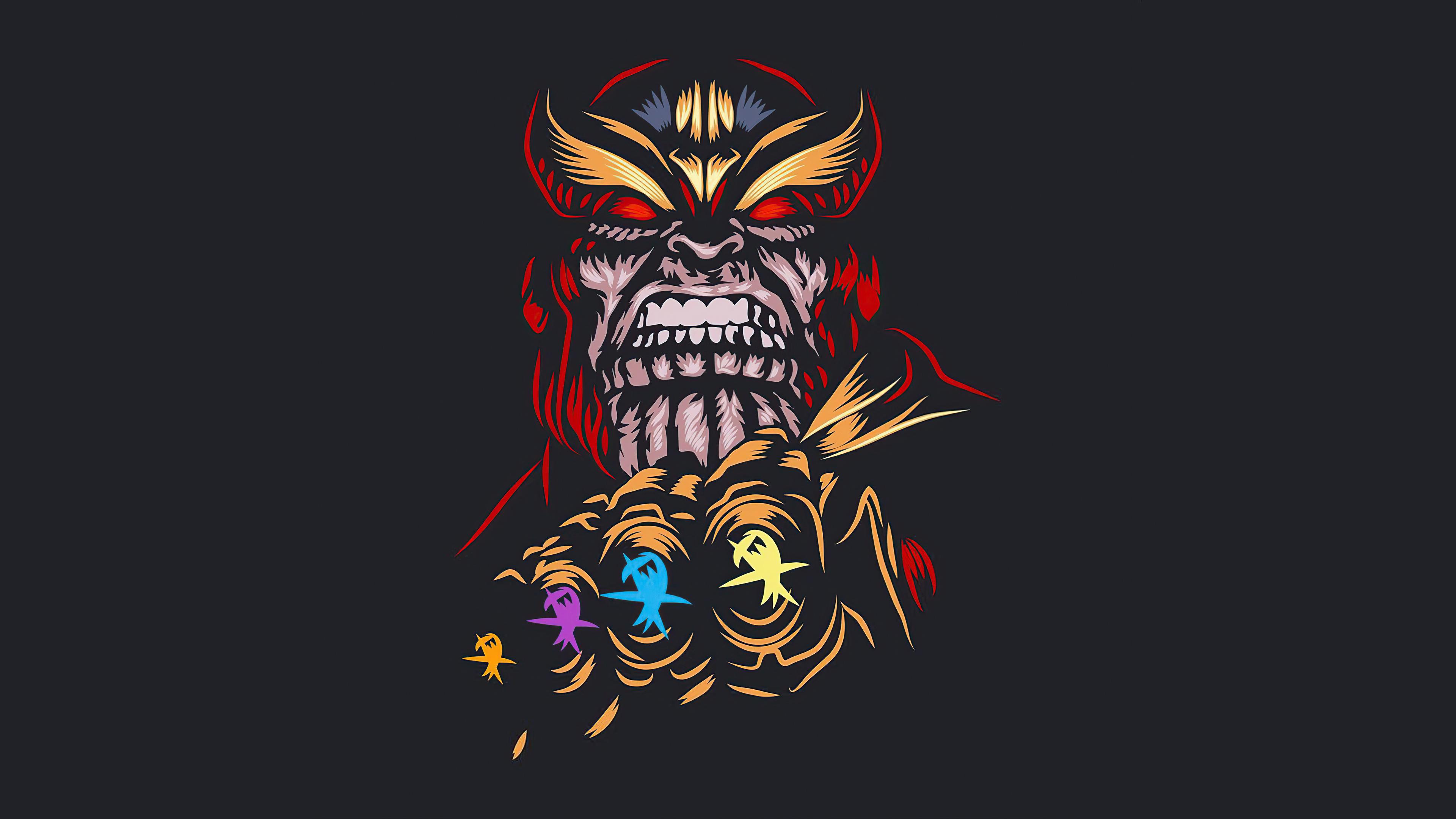 Thanos Dark Minimal 4k 2020 Wallpaper, HD Superheroes 4K ...