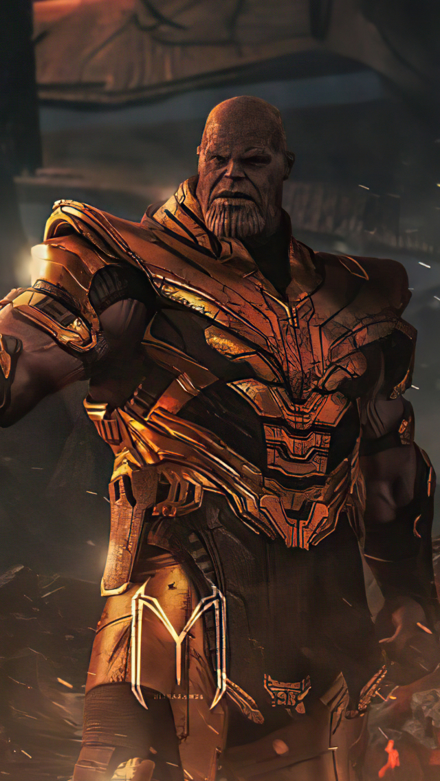 640x1136 Thanos in 4K Avengers Endgame iPhone 5,5c,5S,SE ...