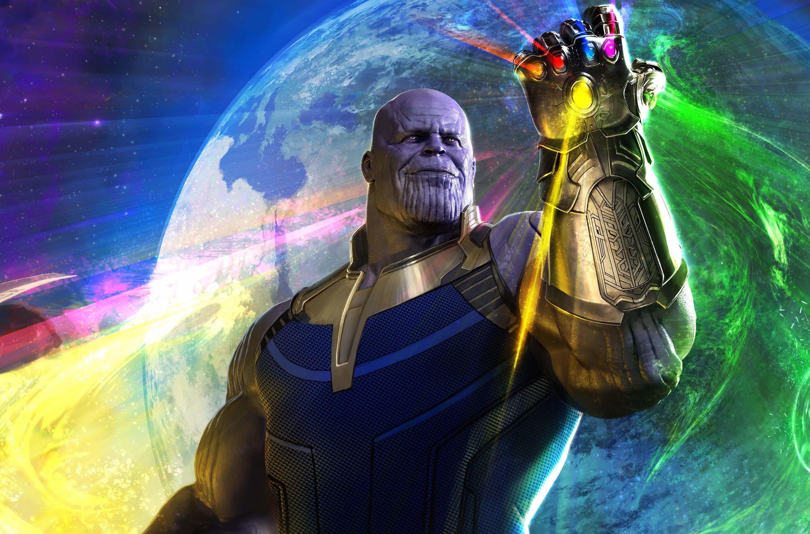 Wallpaper Thanos Avengers Infinity War Artwork Hd: Thanos In Avengers Infinity War, Full HD 2K Wallpaper