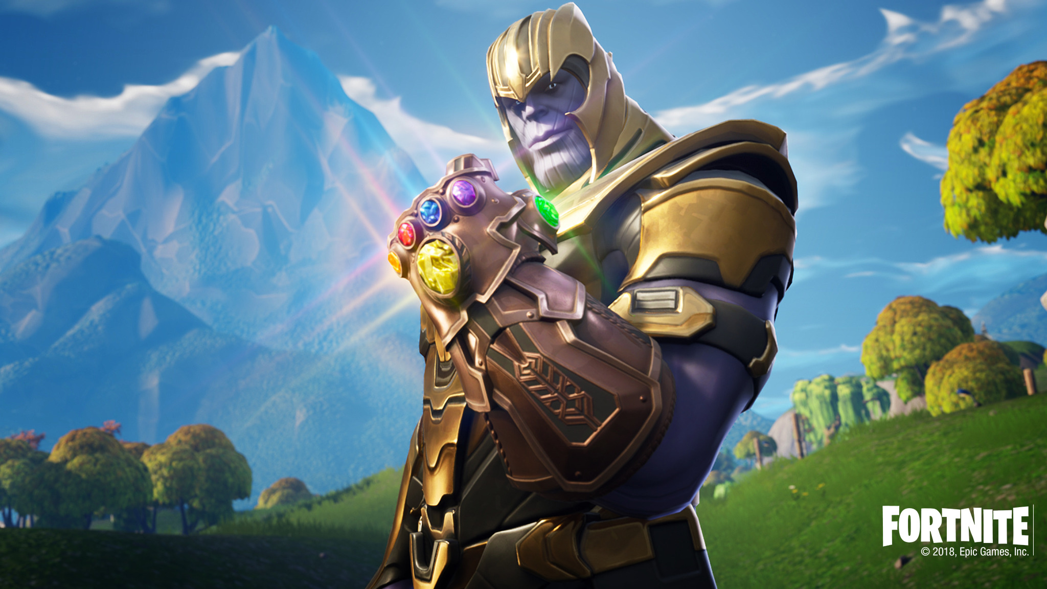 Thanos In Fortnite Battle Royale, HD 4K Wallpaper