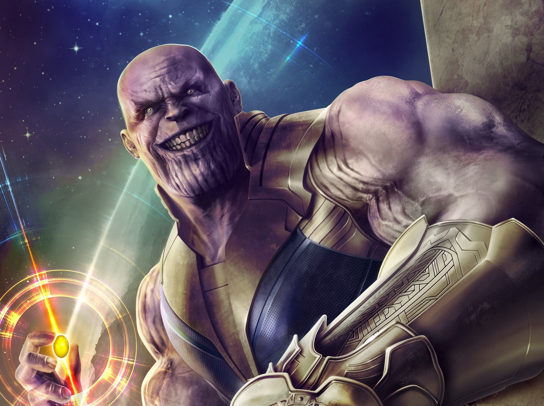 Thanos Hd Wallpaper: Thanos Infinity Stone Artwork, Full HD Wallpaper
