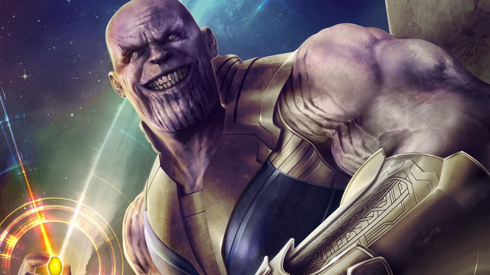 Thanos Infinity Stone Artwork, Full HD Wallpaper