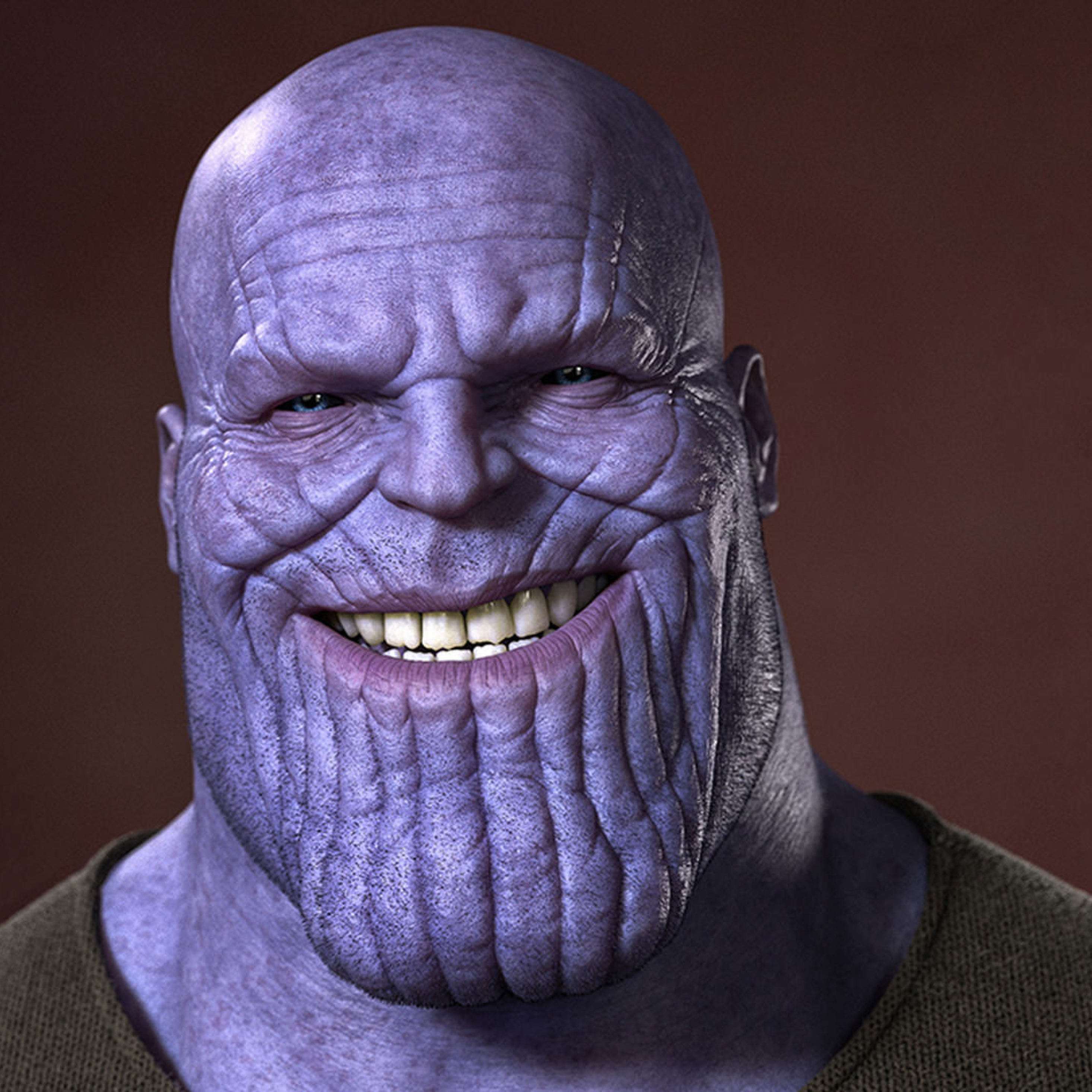 Download Thanos Smiling 840x1160 Resolution, Full HD Wallpaper